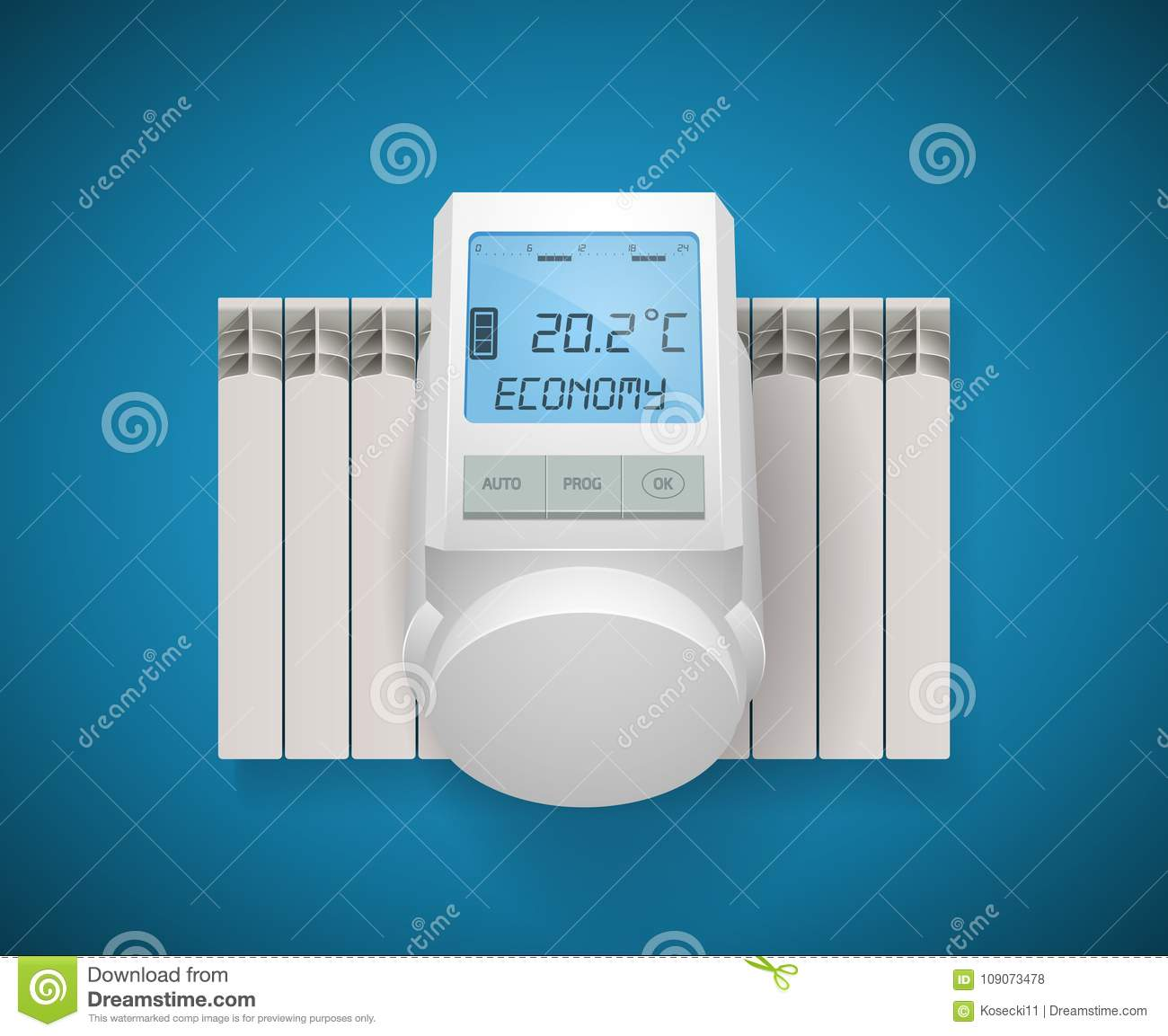 Domestic Heating System Concept - House Installation Stock Vector ...
