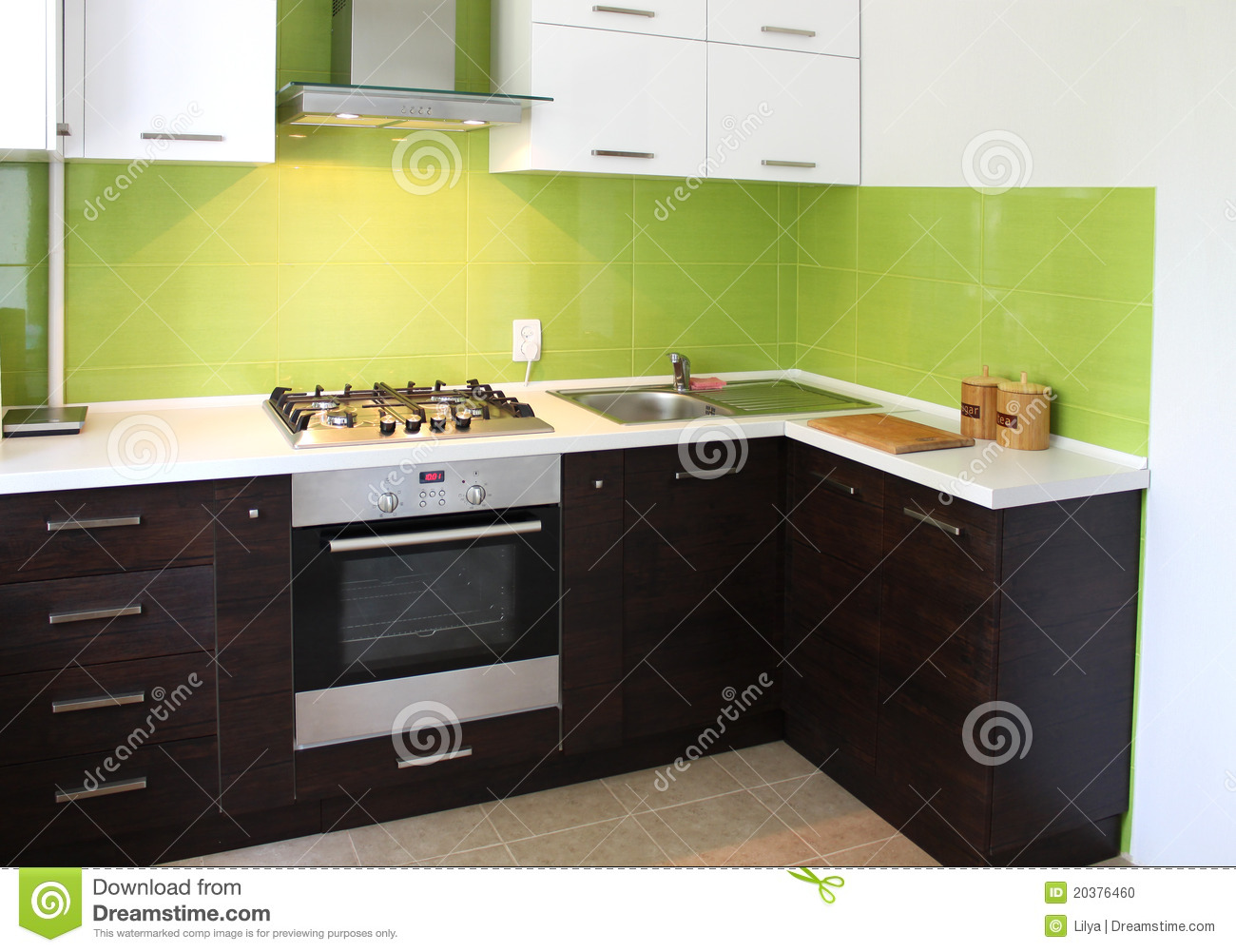Domestic Kitchen design stock photo. Image of simplicity - 20376460