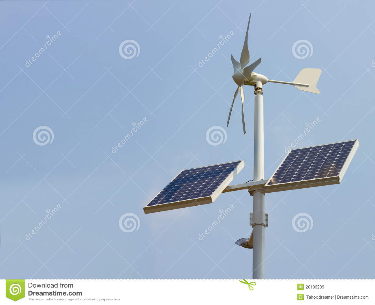 Domestic Solar Power Unit Royalty Free Stock Images