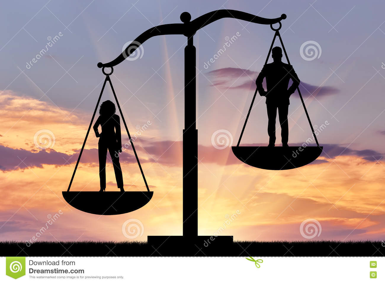 Dominance of women against men, on the scales of justice