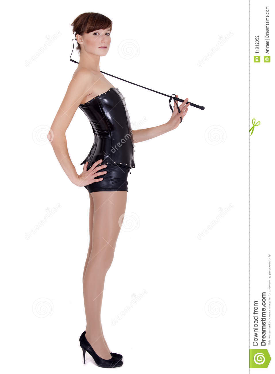 Dominatrix woman with whip