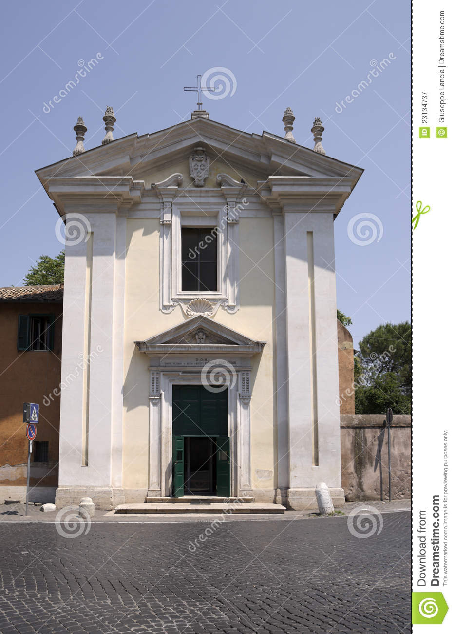 Domine Quo Vadis Church On Appian Way Rome Royalty Free Stock Photography Image 23134737