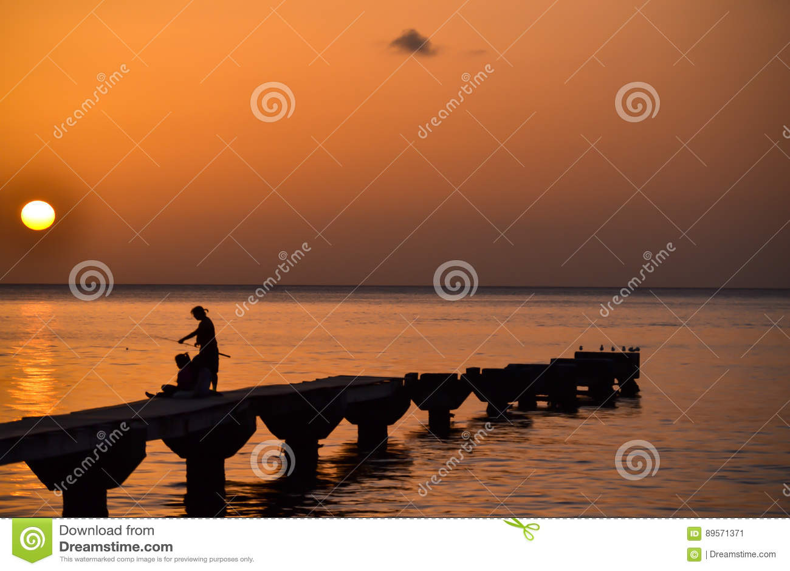 Dominica Island Sunset