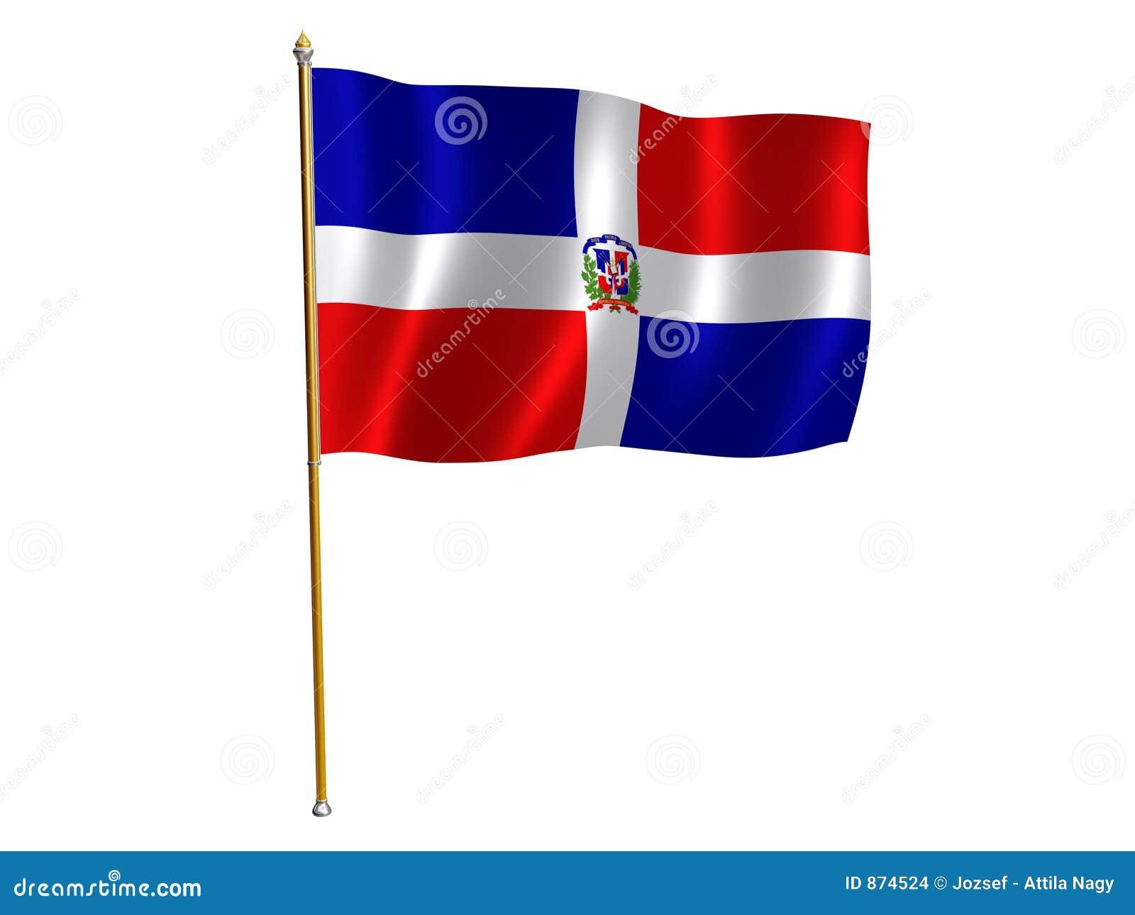 Dominican jedwab flaga republiki
