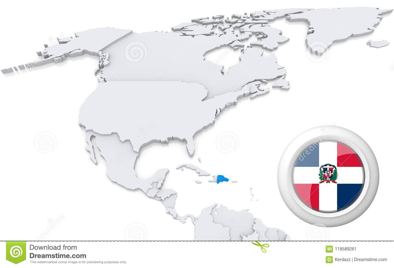 Dominican republic on a map of north america stock illustration dominican republic on a map of north america gumiabroncs Image collections