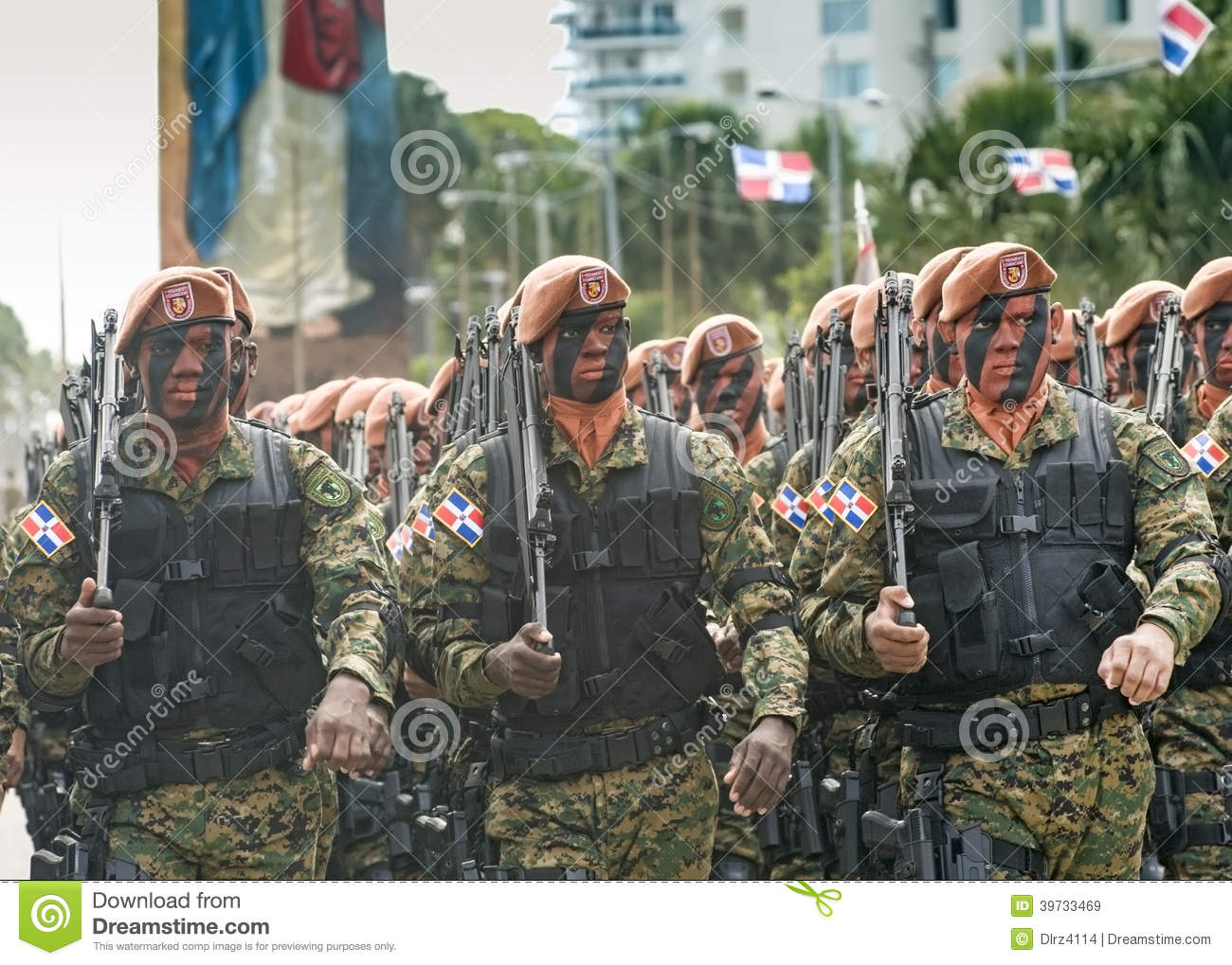 Dominican Soldiers Marching