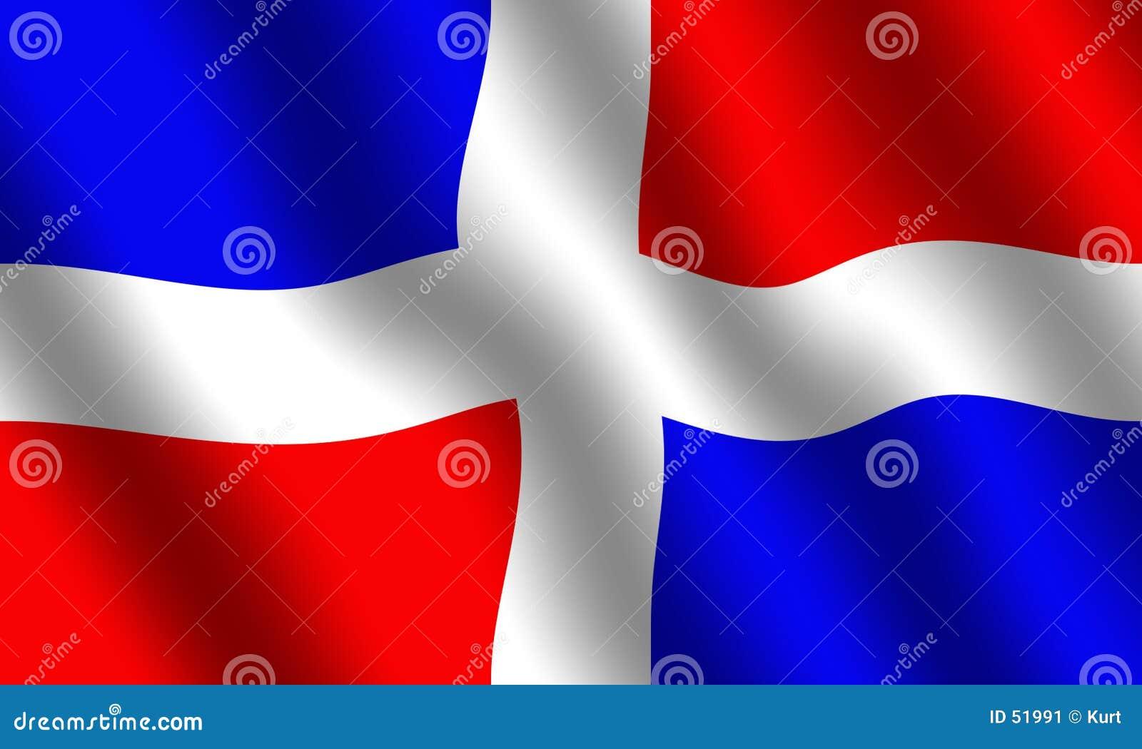 Dominikanische Republik-Markierungsfahne