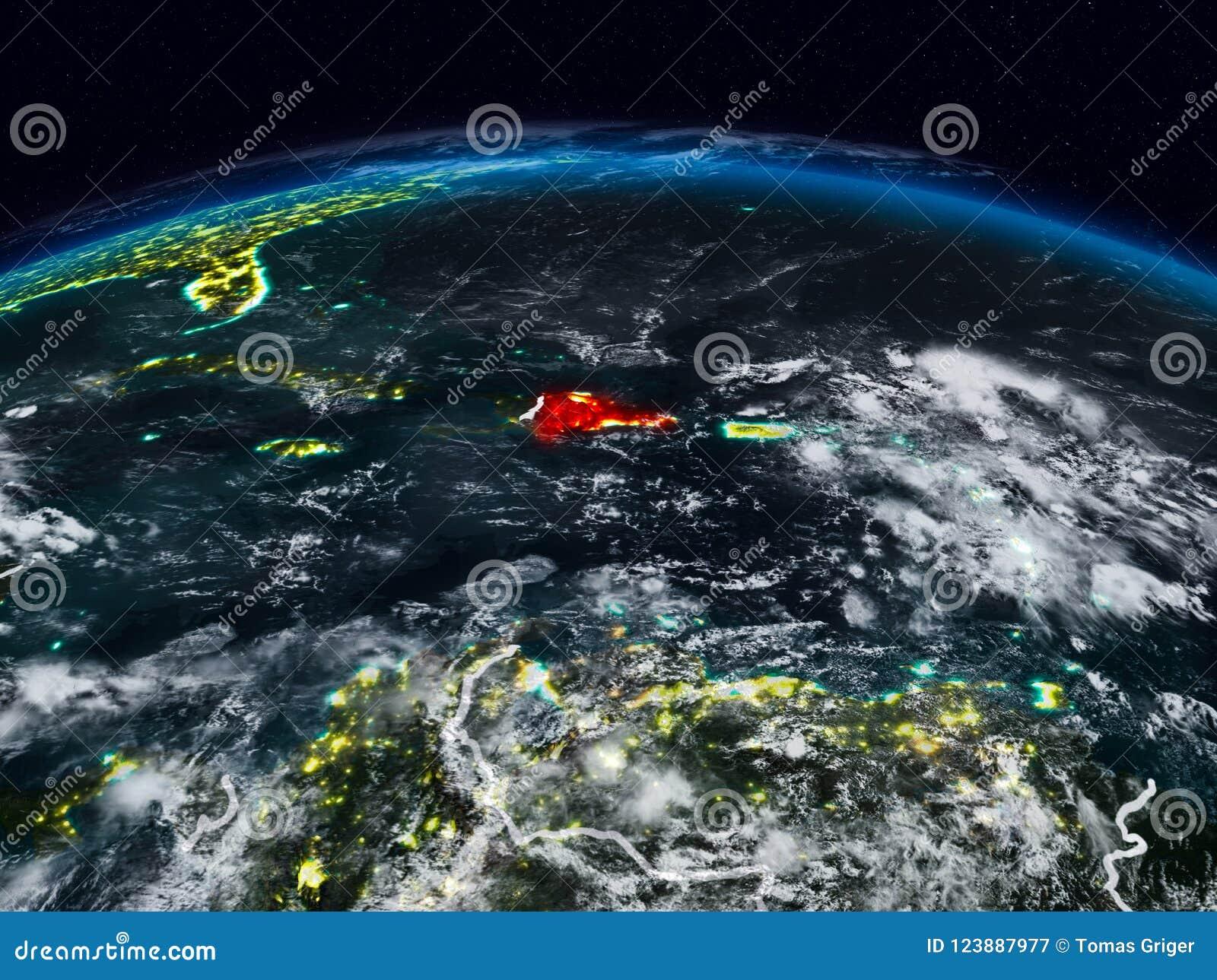 Dominikanische Republik nachts