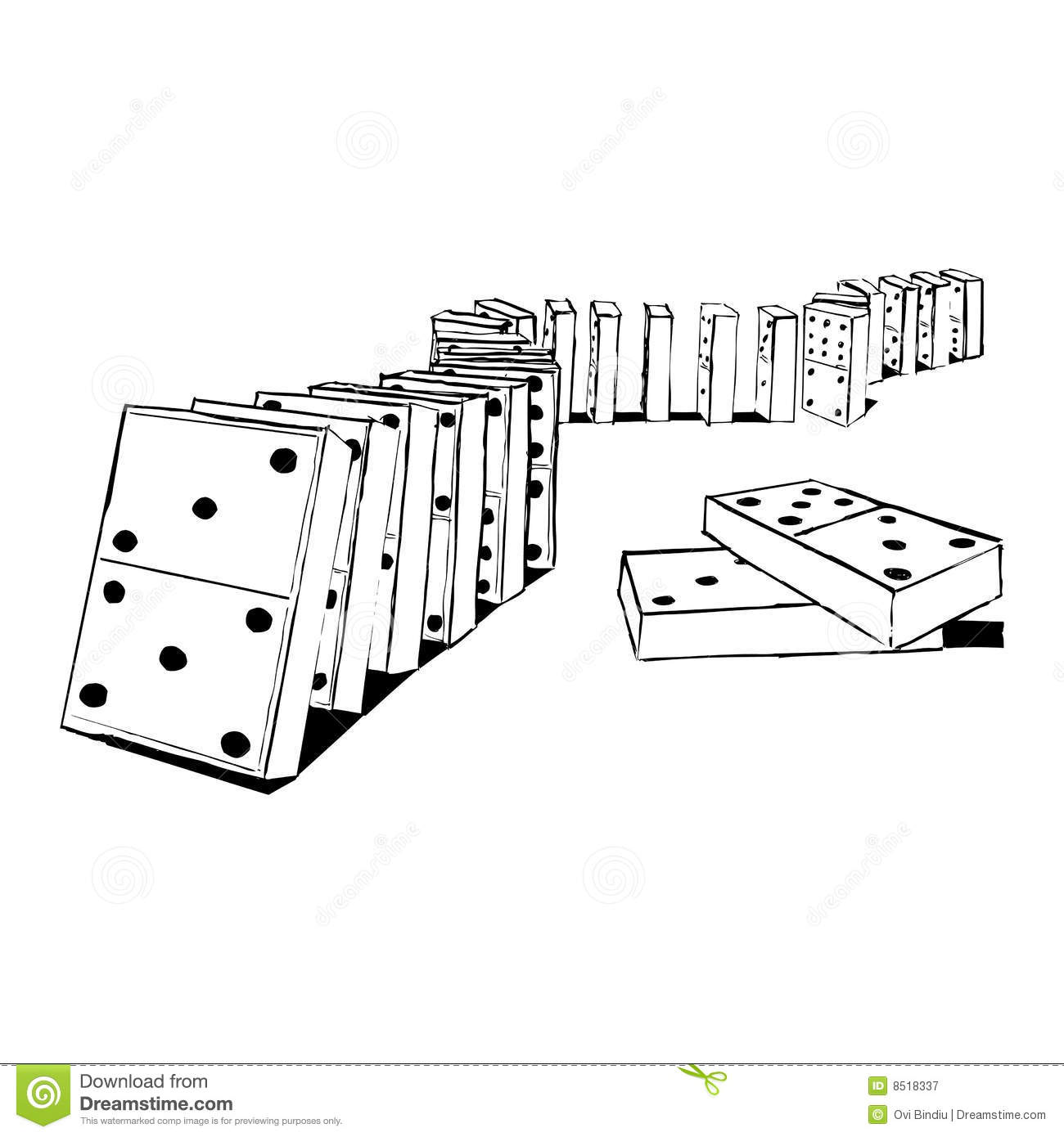 Dominos Falling Clip Art Royalty free stock photography: domino