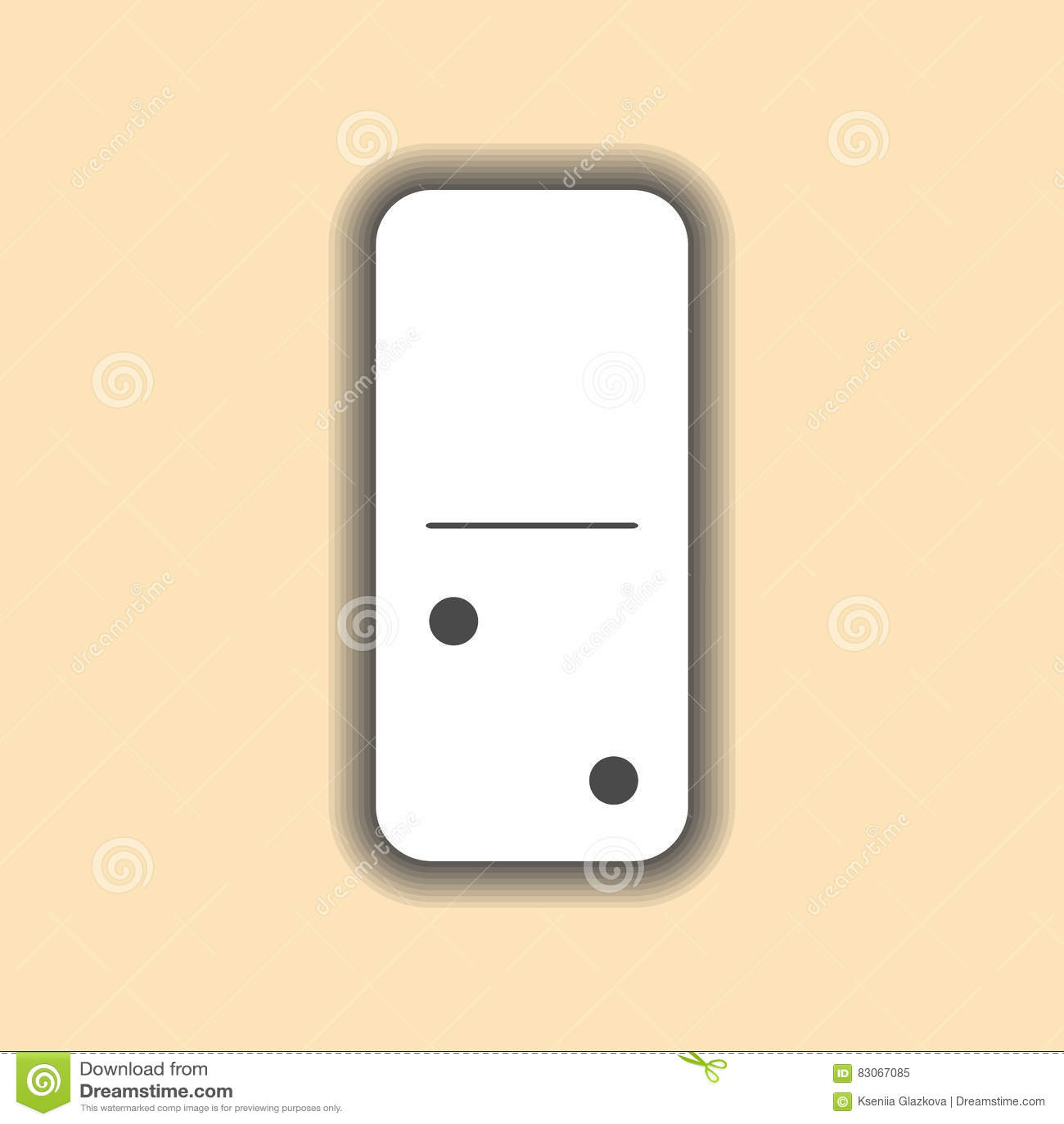 Domino biel i zero, dwa tło