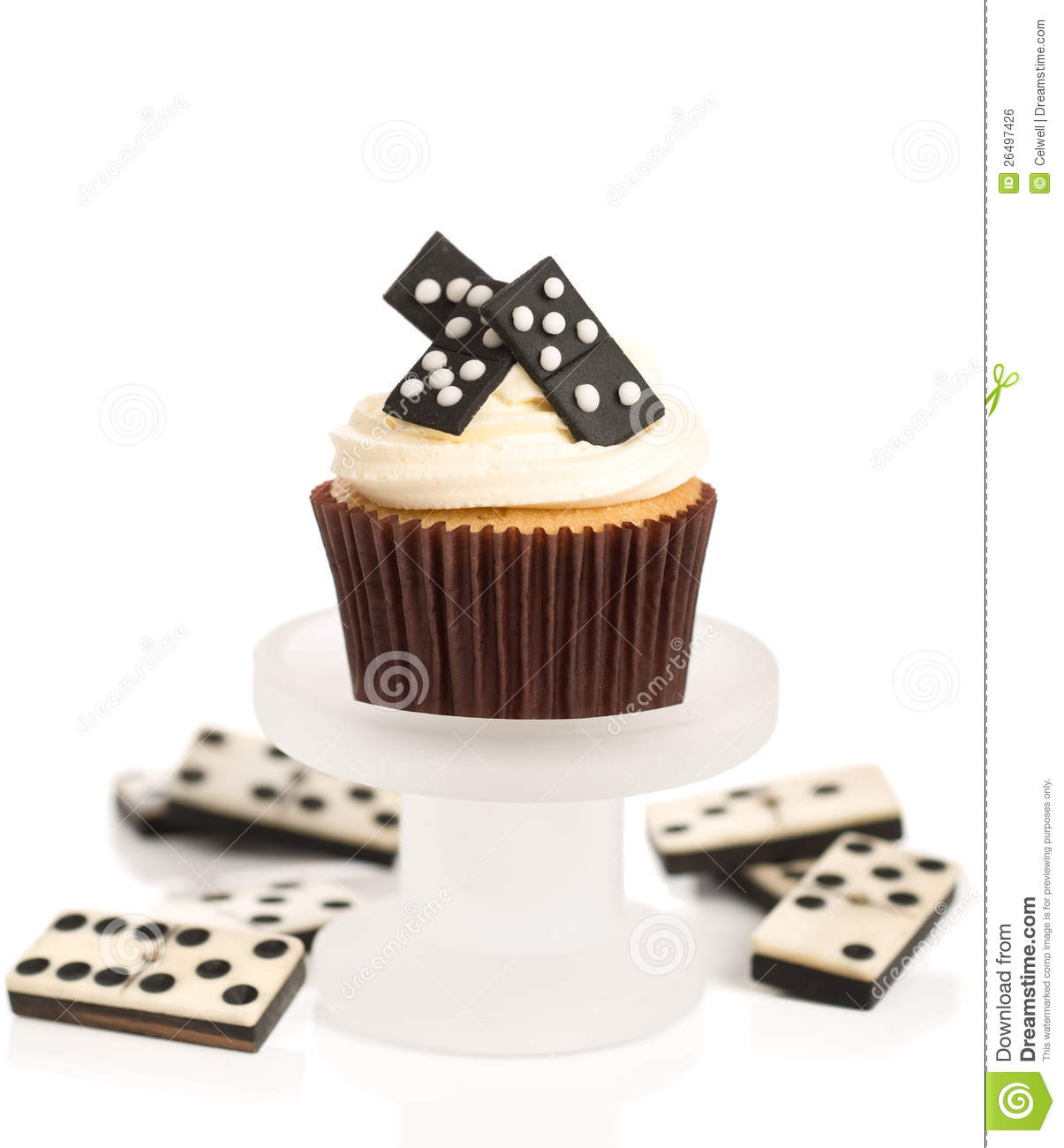 Domino Cupcakes stock photo Image of chips icing decoration