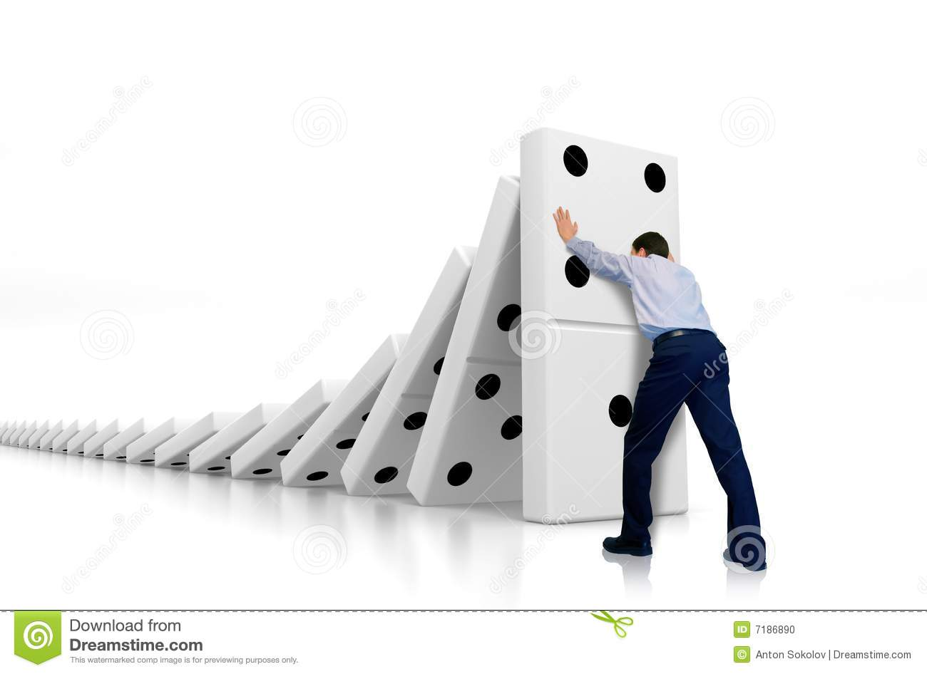 domino effect stock photo image  domino effect
