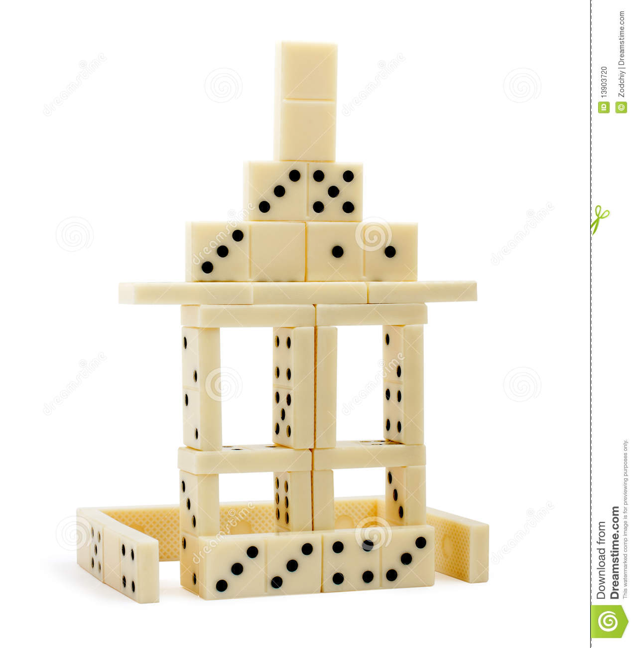 Domino House Isolated Stock Photo Image Of Playing Roof