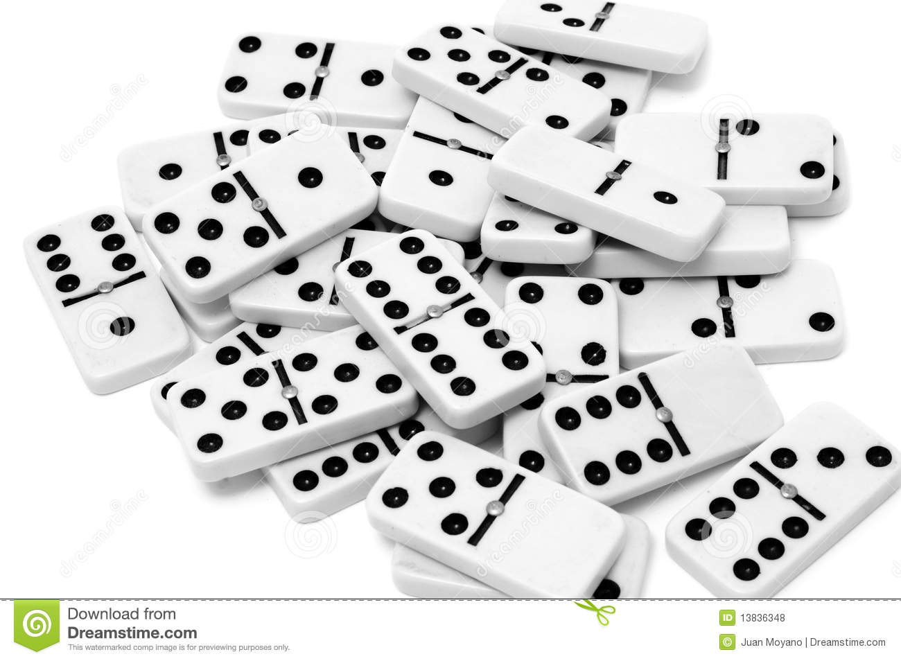 Domino pieces stock photo image of numbers points piece 13836348 for Piece de theatre domino