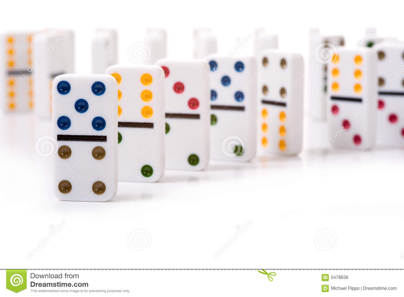 Dominos stock photo. Image of background, space, standing - 5478636