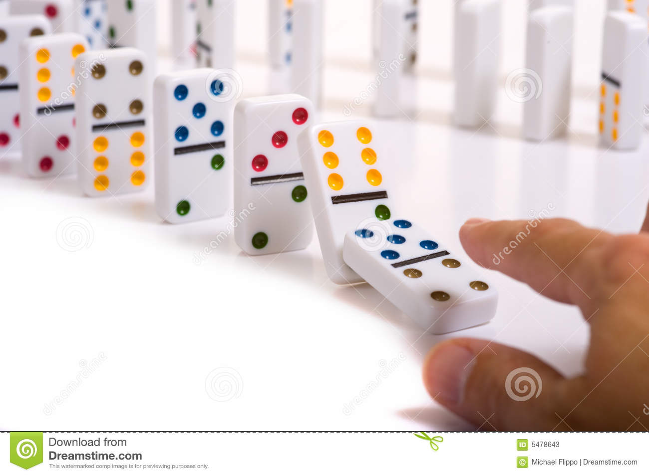 Dominos stock image. Image of number, falling, challenge - 5478643