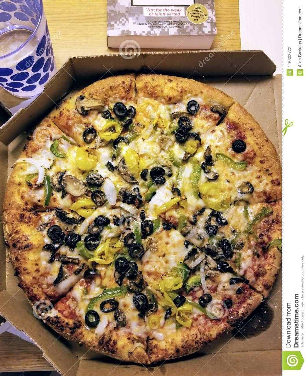 Dominos Pizza With Vegetable Toppings Editorial Photography Image