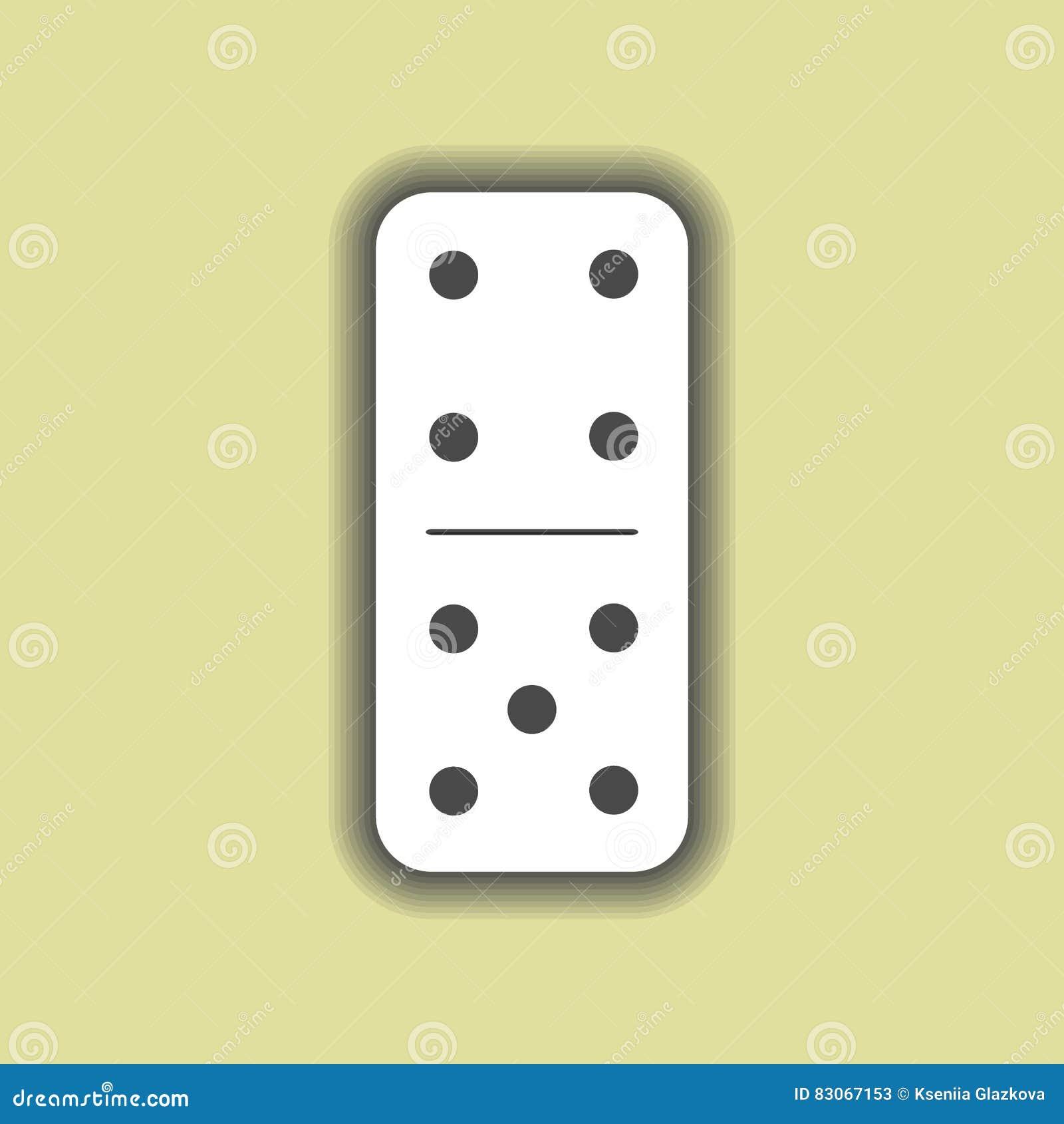 Dominoweiß vier und fünf auf Hintergrund