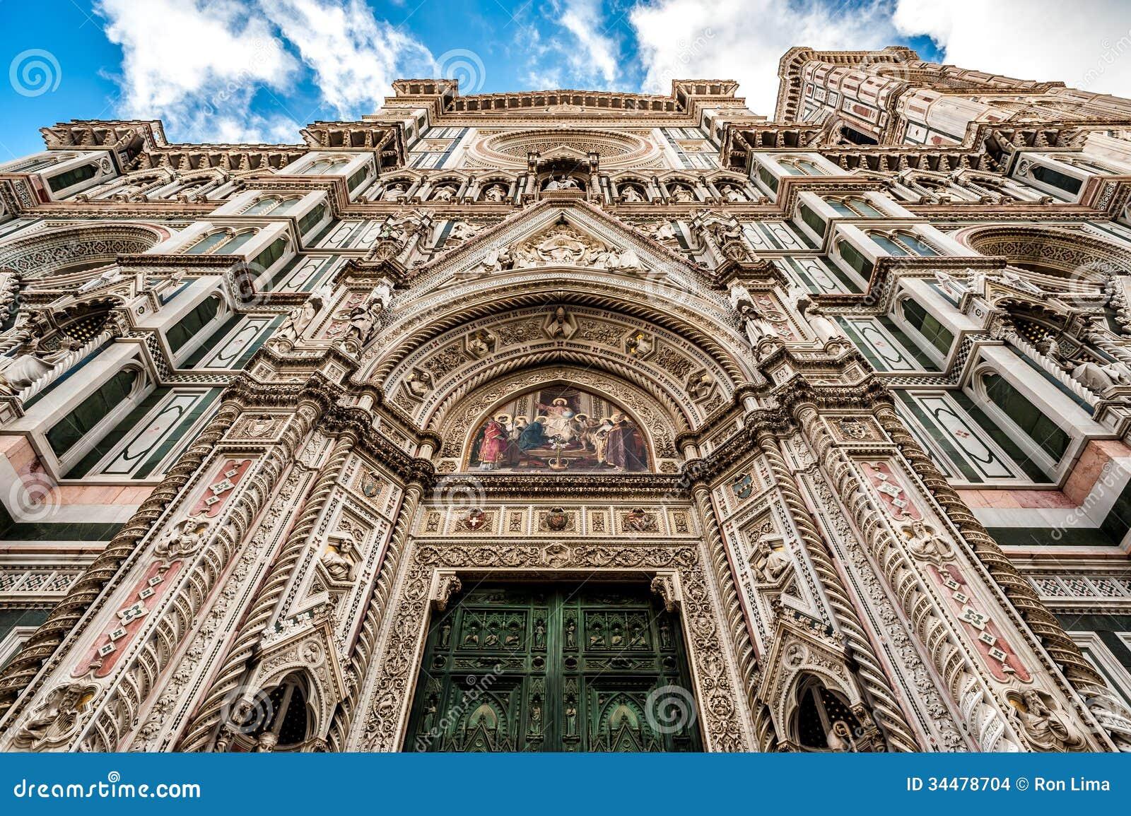 Domkyrka av Florence i Italien