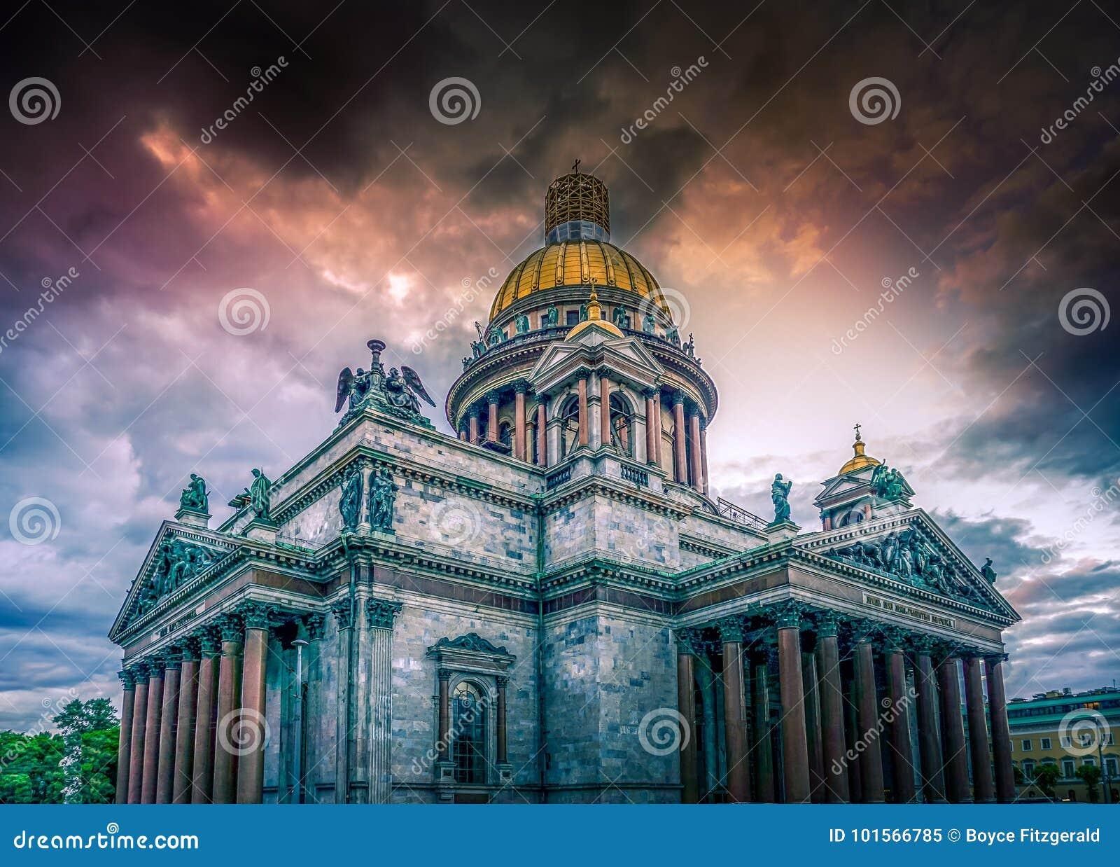 Domkyrka för ` s för St Isaac, St Petersburg, rysk federation