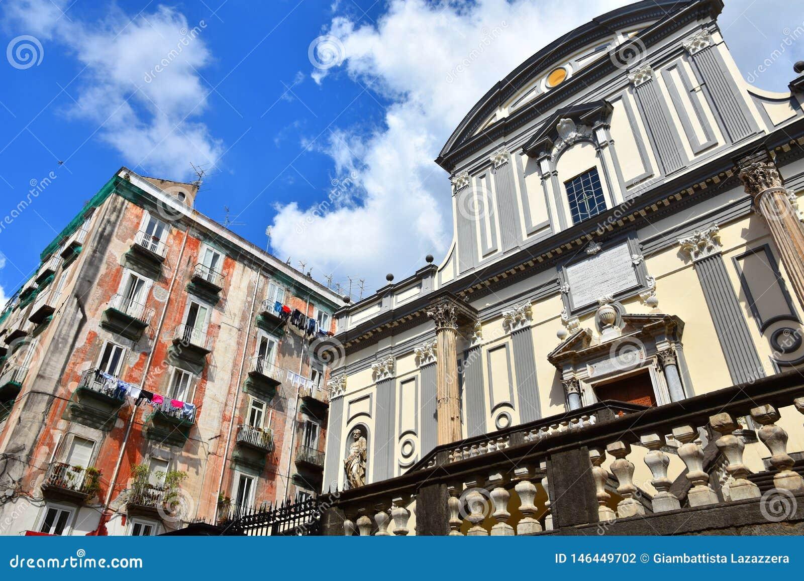 Domkyrkan av helgonet Paul Greatest i Naples