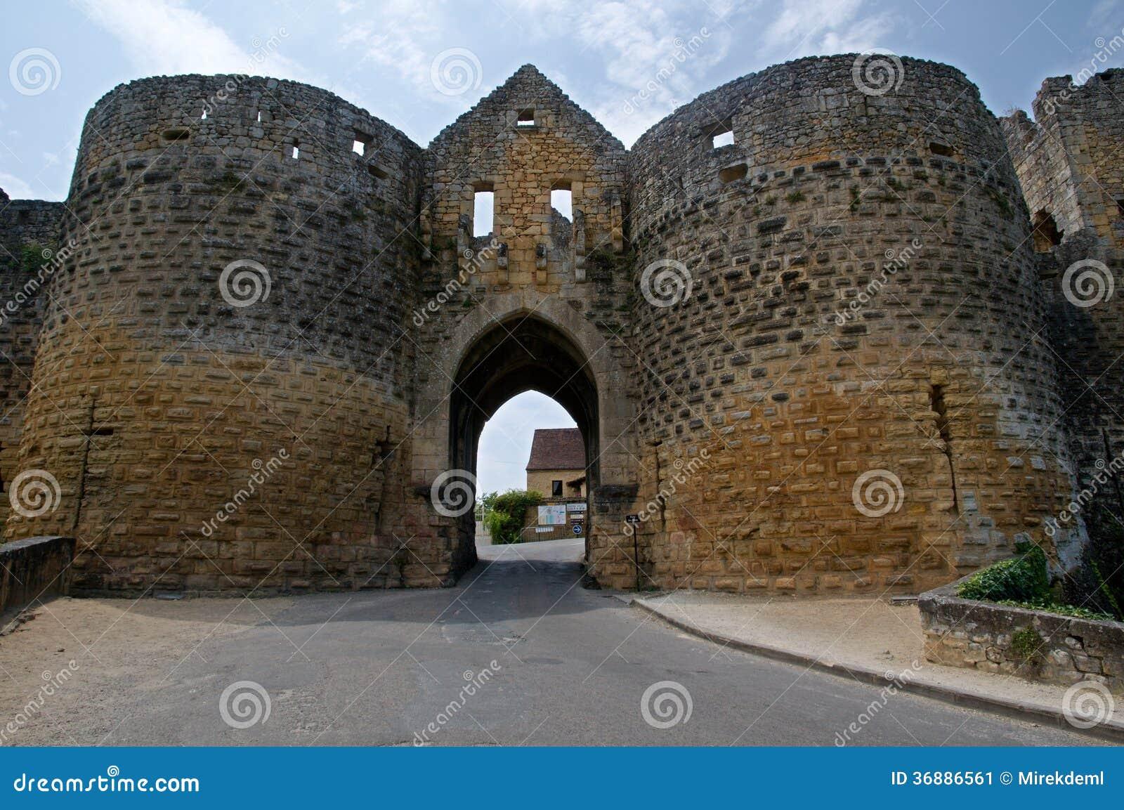 Download Domme, Francia immagine stock. Immagine di europa, medioevale - 36886561