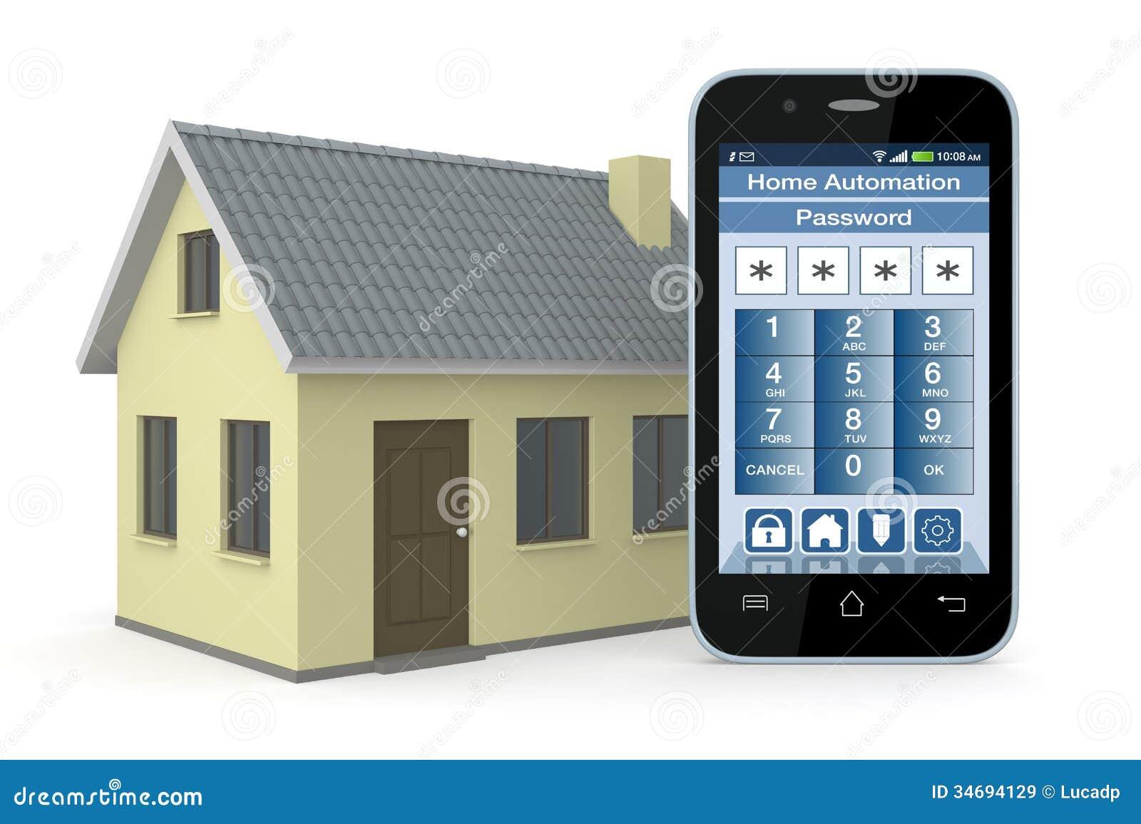 domotique illustration stock image du ordinateur neuf 34694129. Black Bedroom Furniture Sets. Home Design Ideas
