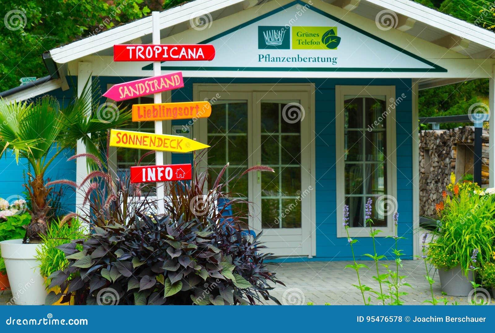 Domowa dekoracja na wyspie Mainau w Niemcy