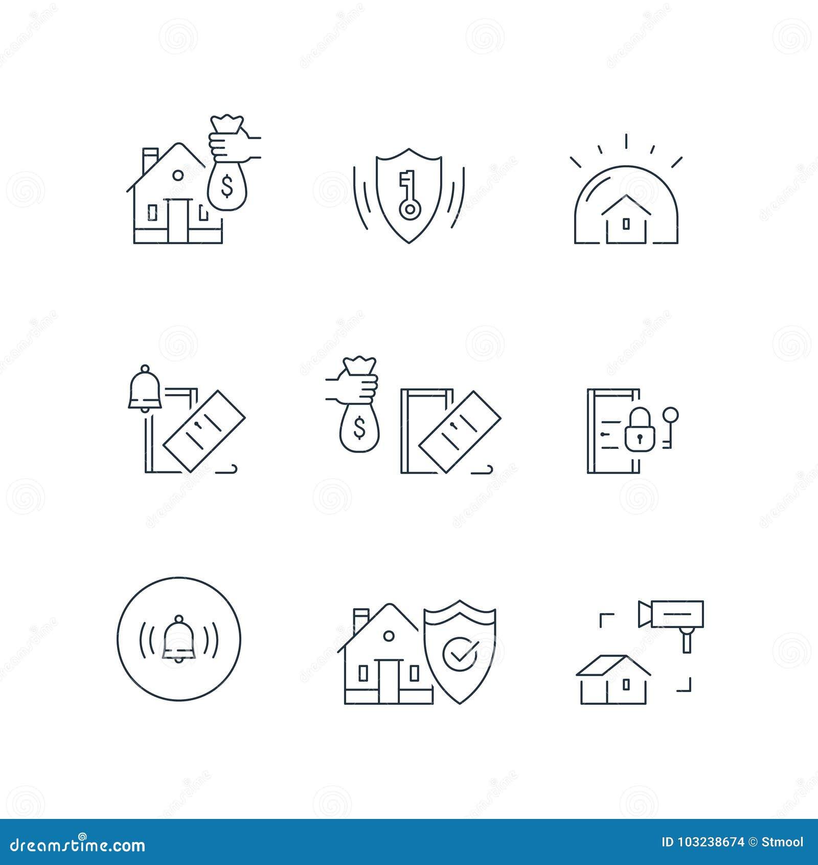 Domowa kamera wideo inwigilacja, alarma strażowy system, domowa ochrona, włamanie ochrona, majątkowa przerwa w ubezpieczeniu, ude