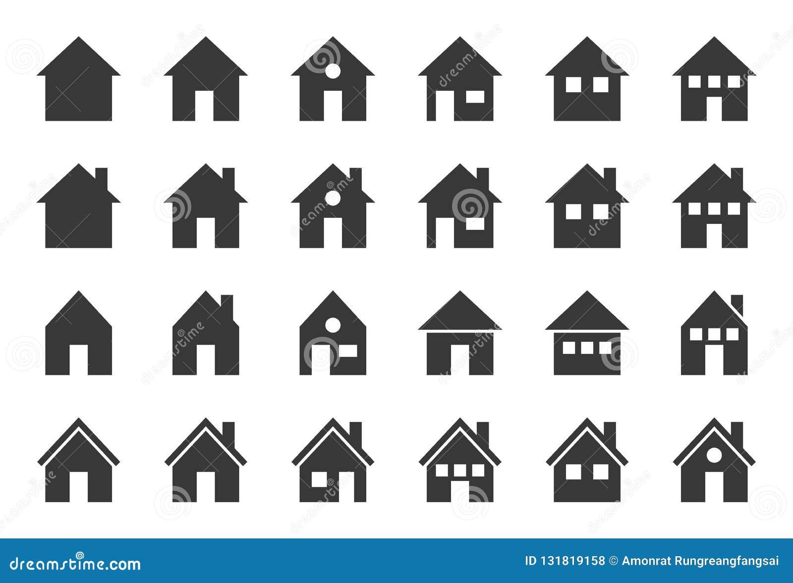 Domowa wektorowa ikona, glifu projekta piksel doskonalić