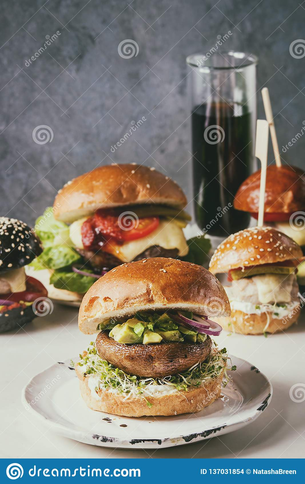 Domowej roboty hamburger rozmaitość