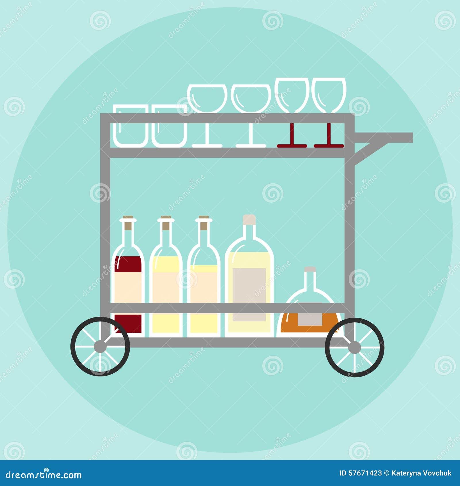 Domowy bar dalej toczy wewnątrz retro styl z stemware i butelkami alkohol