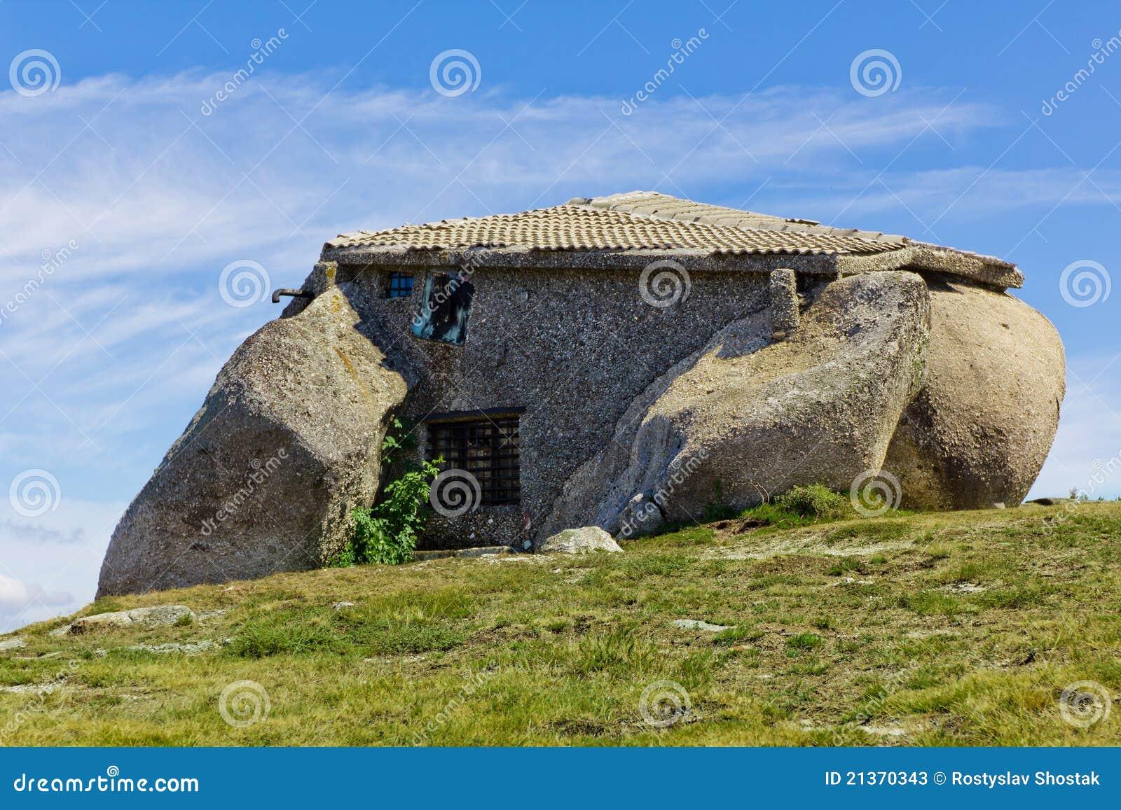 Domowy moutain kamienia wierzchołek