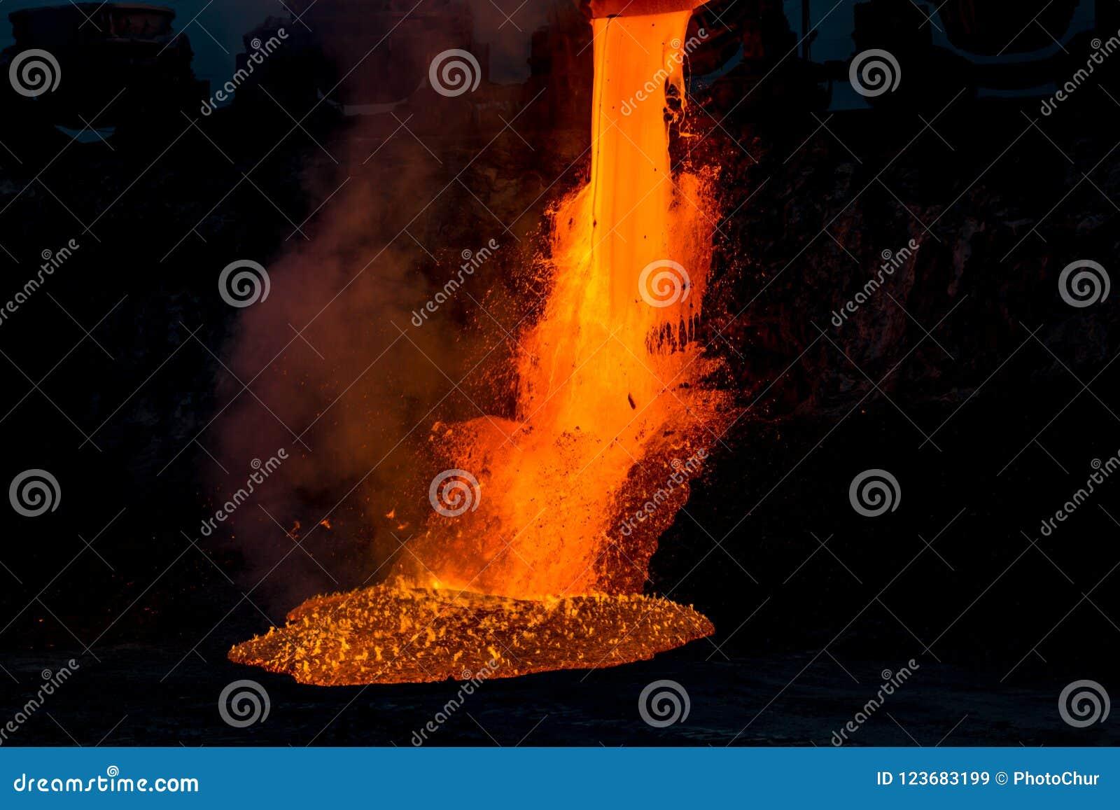 Domowy odżużlać rozładowanie przy żelazną formiernią