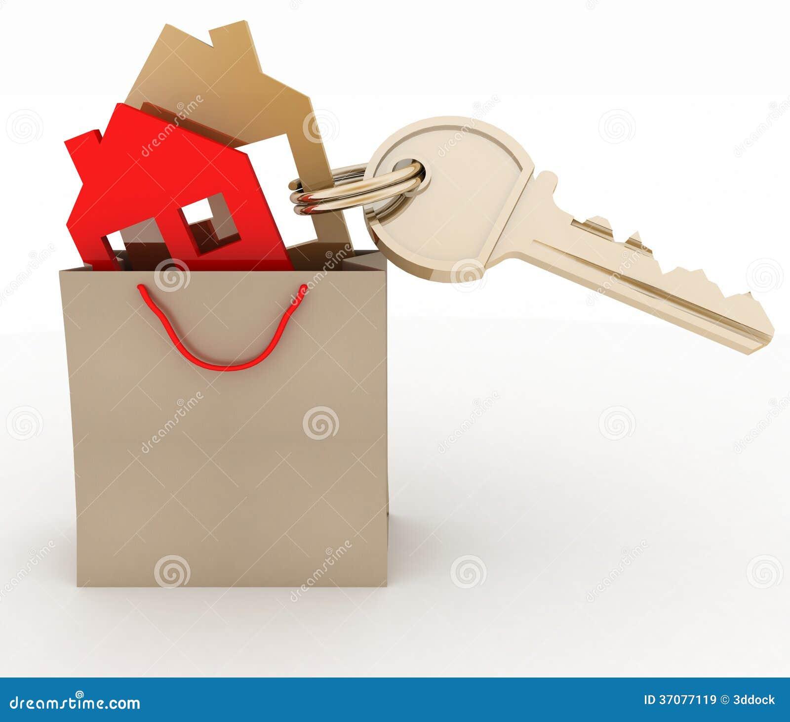 Download Domowy Symbol Ustawiający W Papierowym Torba Na Zakupy Ilustracji - Ilustracja złożonej z kredyt, wygoda: 37077119