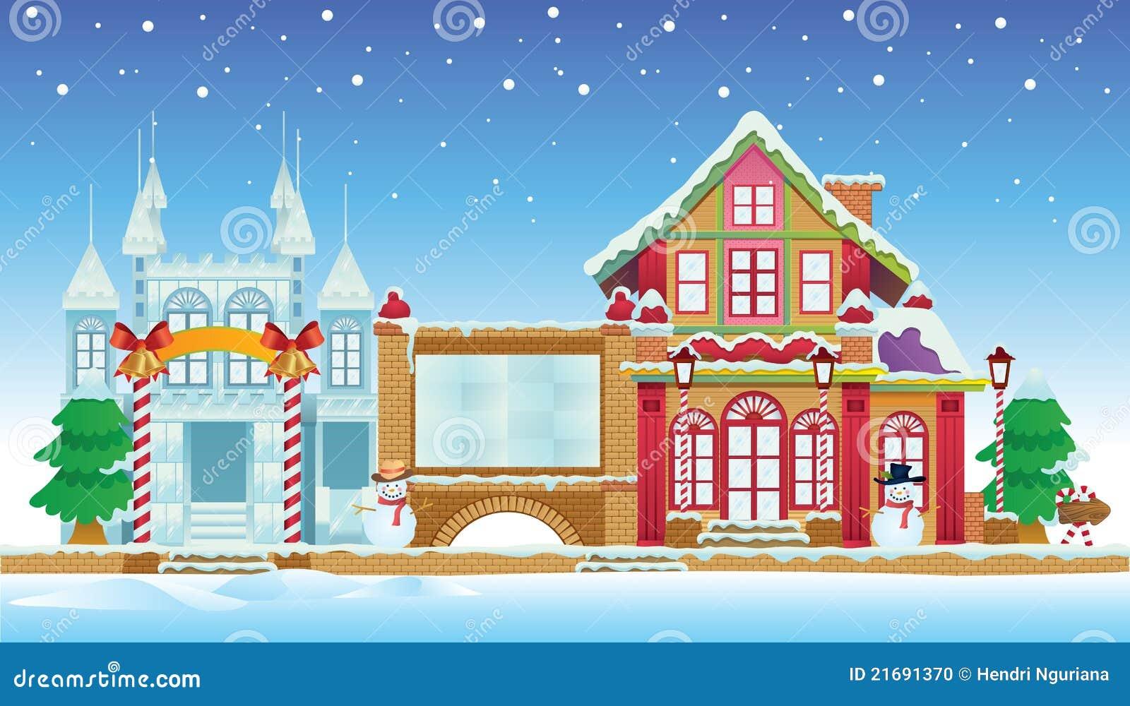 Domu grodowy lód Santa