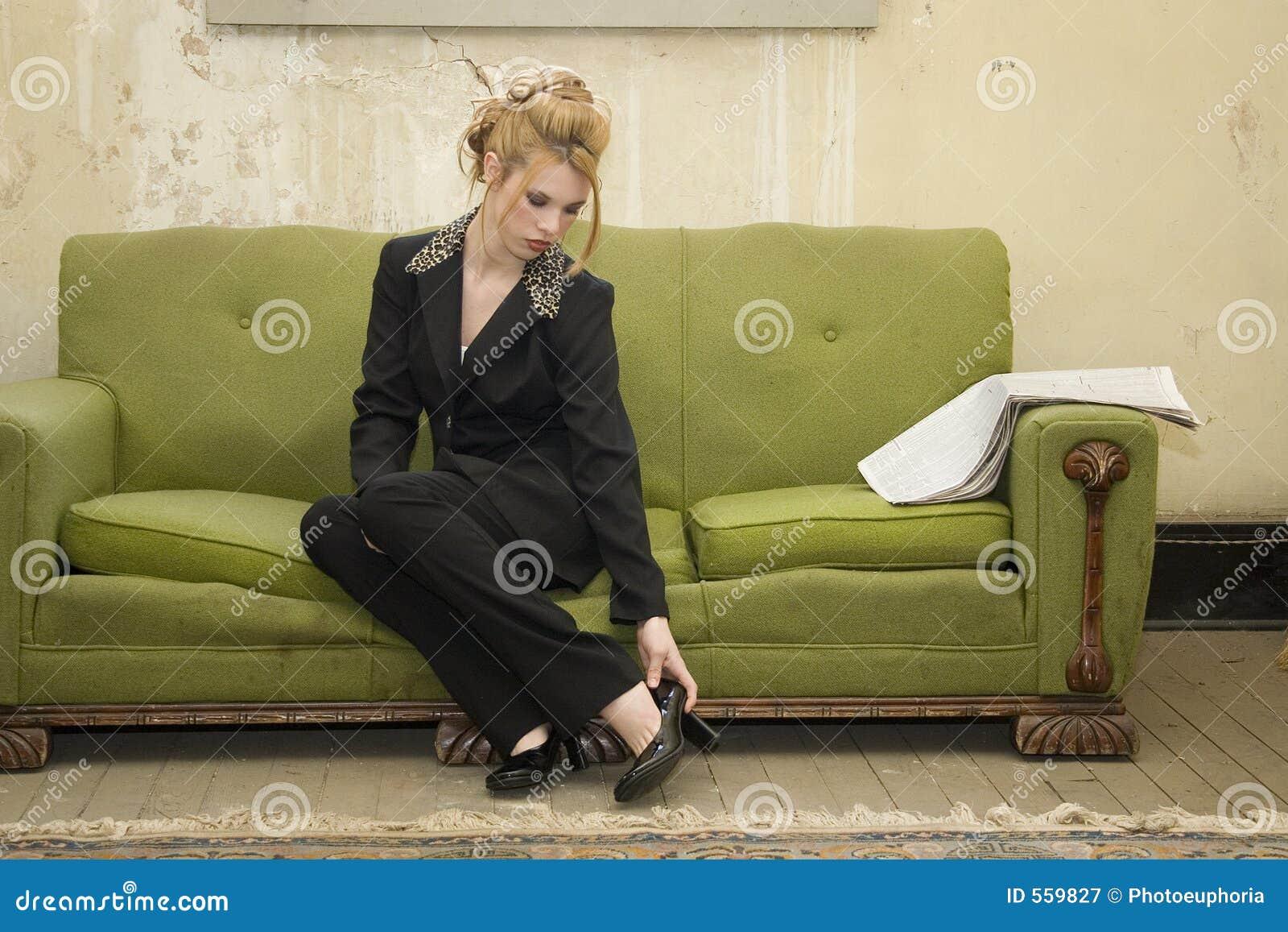 Domu zubożała kobieta interesu