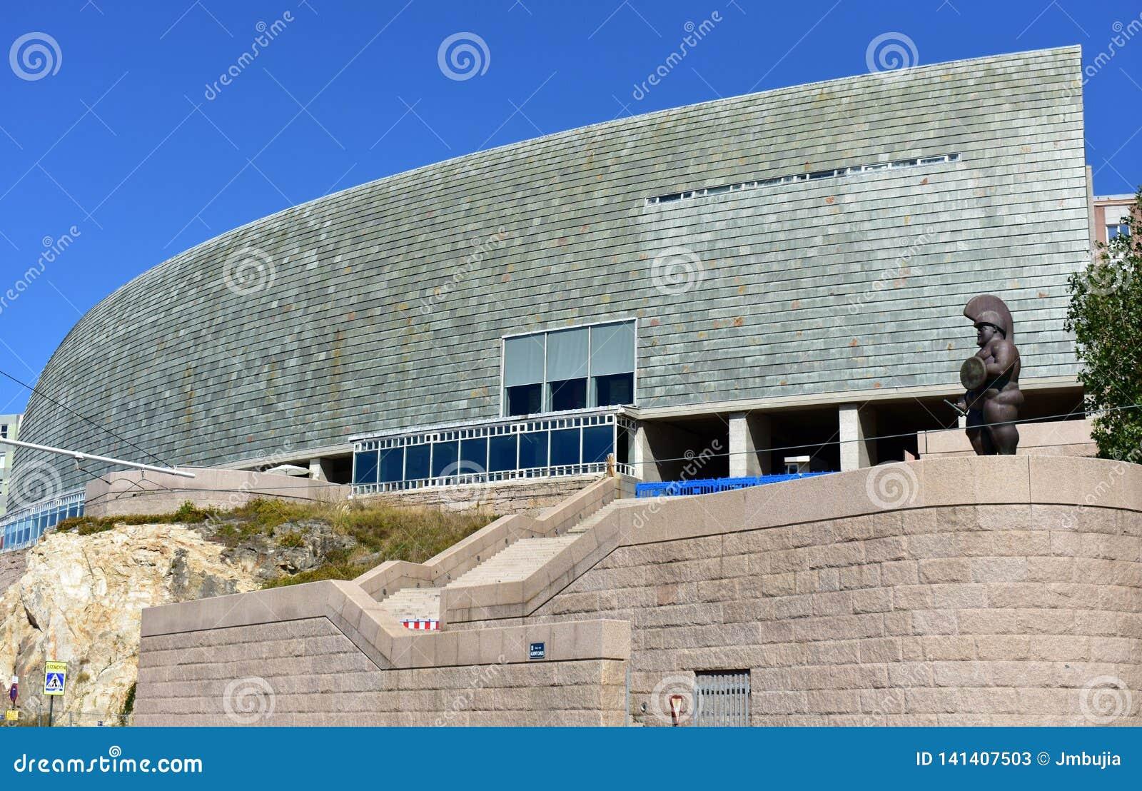Domus-Museum entworfen von Arata Isozaki, Pritzker-Architektur-Preis 2019 La Coruña, Spanien, am 22. September 2018