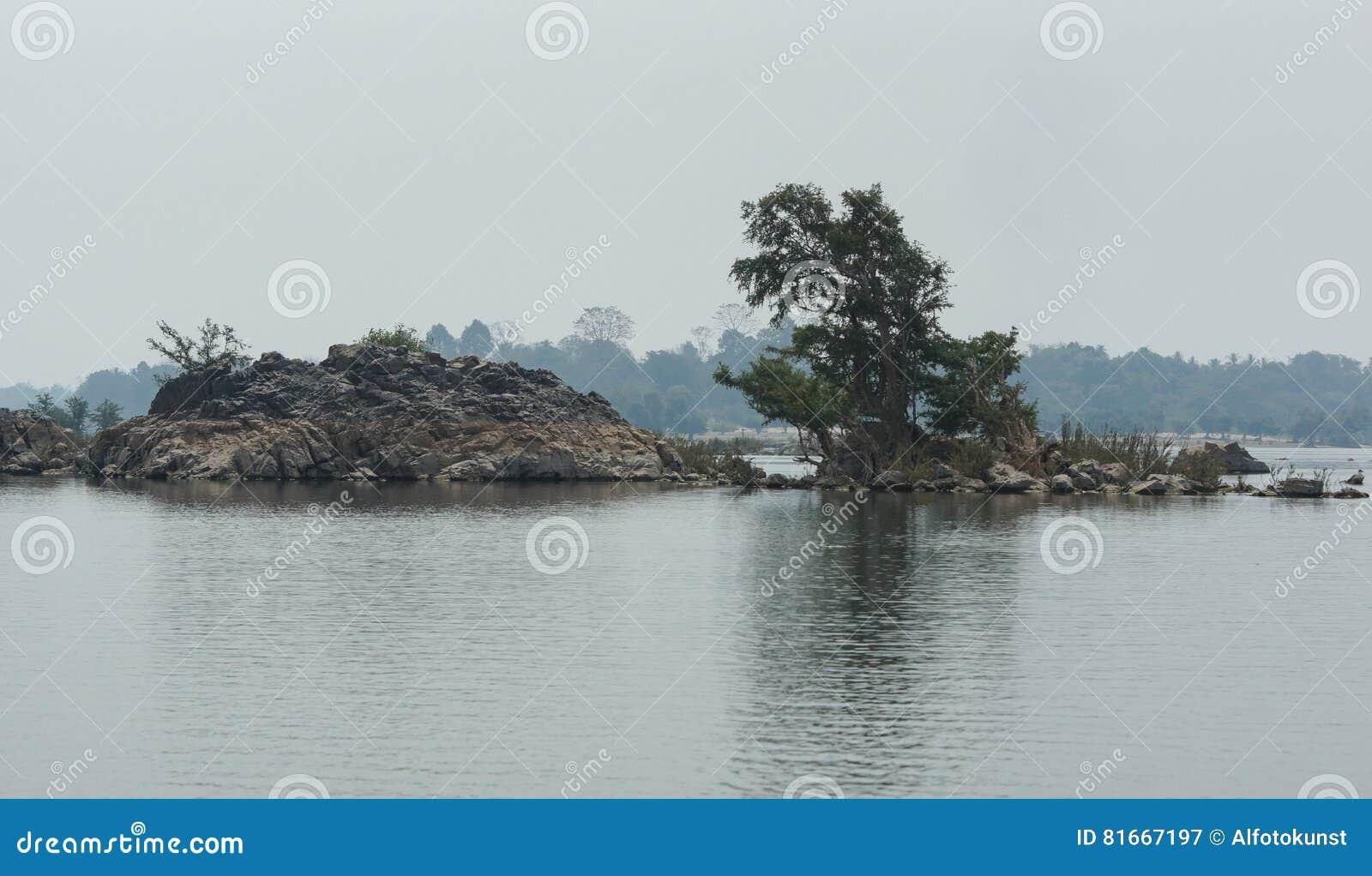 Don Khone Island, Laos, Azië