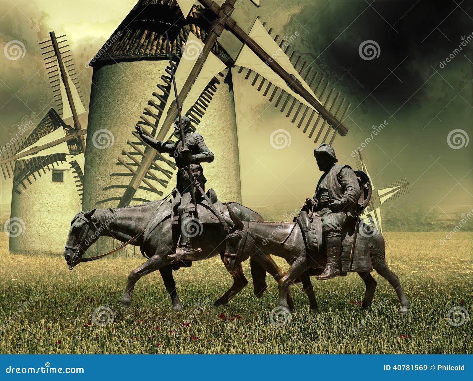 Don Quichote Und Sancho Panza Stock Abbildung Illustration Von