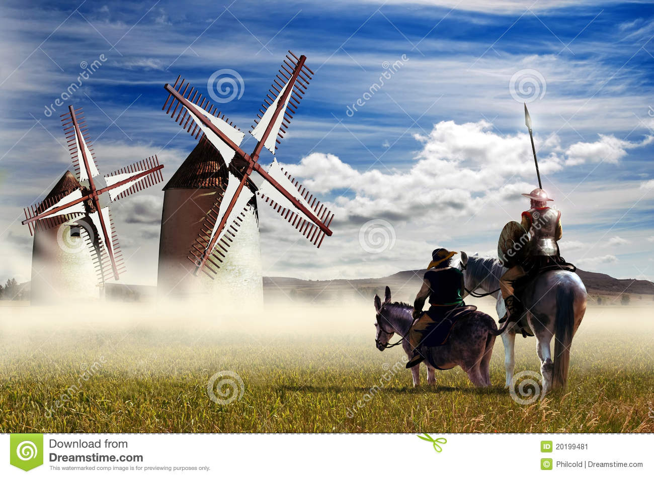 Image result for don quixote windmill scene