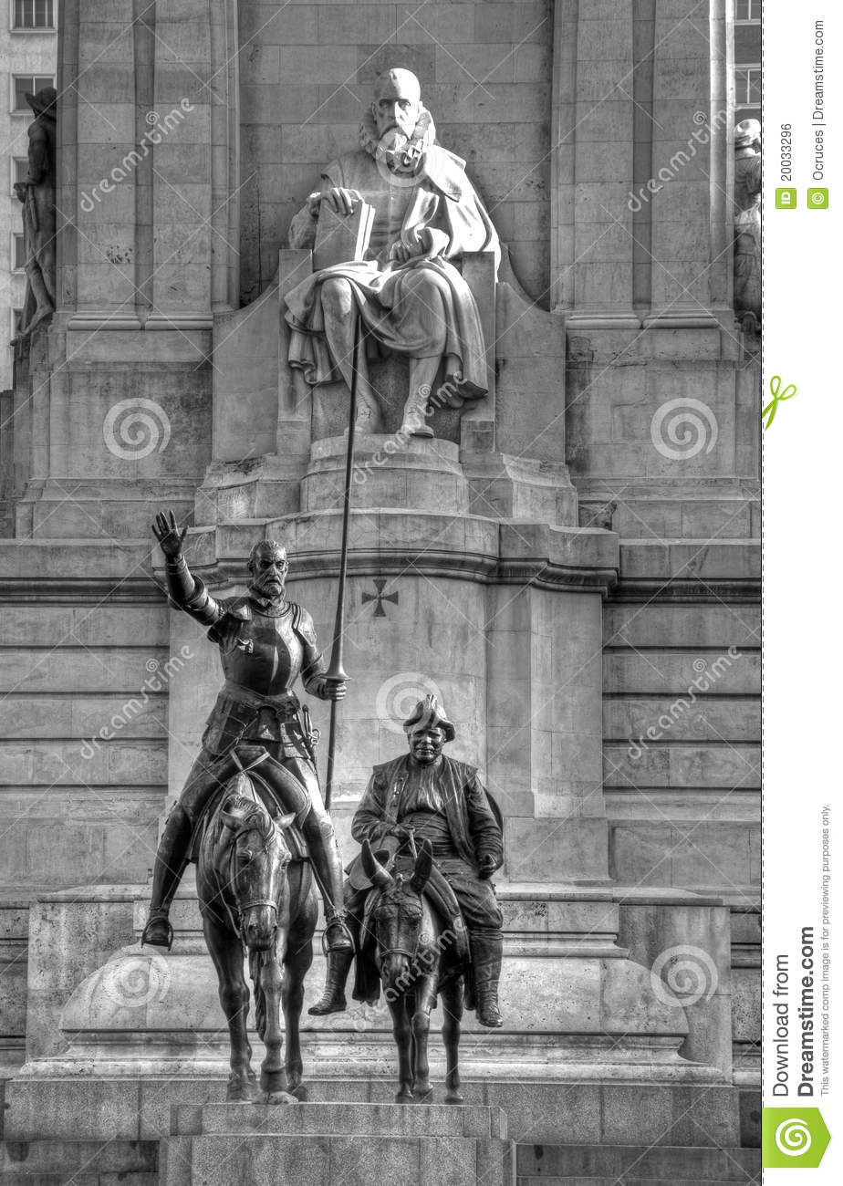 Don Quixote Statue In Madrid Royalty Free Stock Image - Image ...