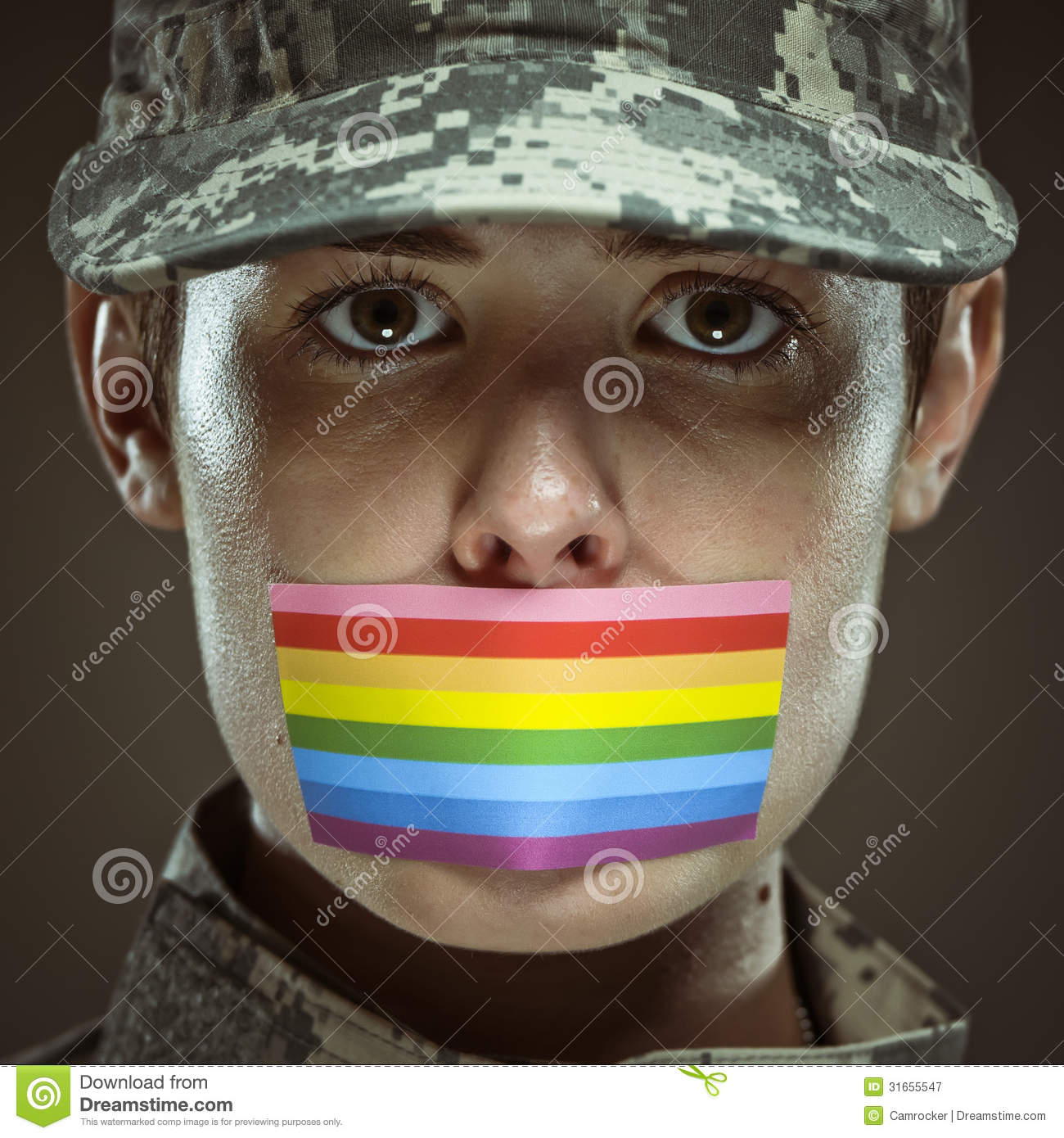 don 39 t ask don 39 t tell stock image image of lesbian military 31655547. Black Bedroom Furniture Sets. Home Design Ideas