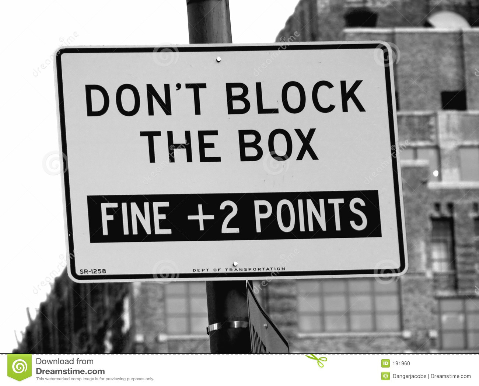 Don t Block The Box Street Sign in Manhattan, New York City