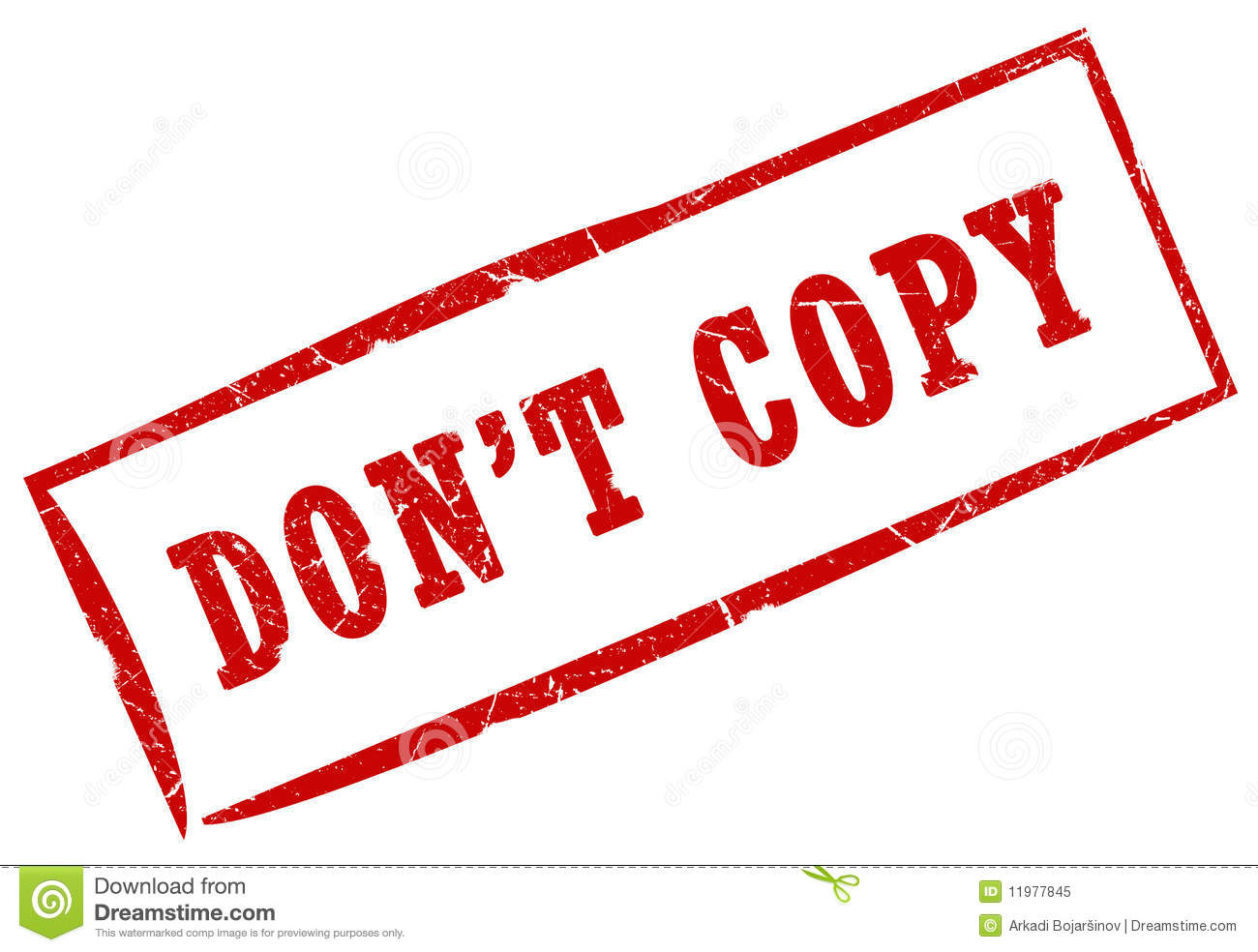 Don't Copy Stamp Royalty Free Stock Photo - Image: 11977845