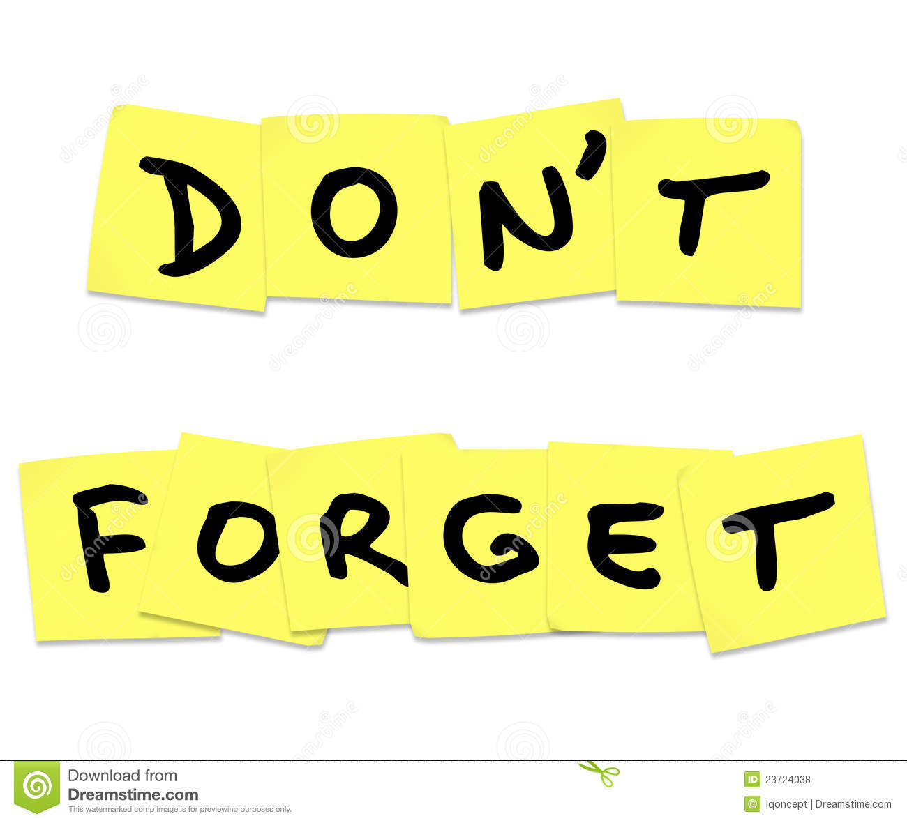 Dont Forget Clipart Don t forget reminder words on