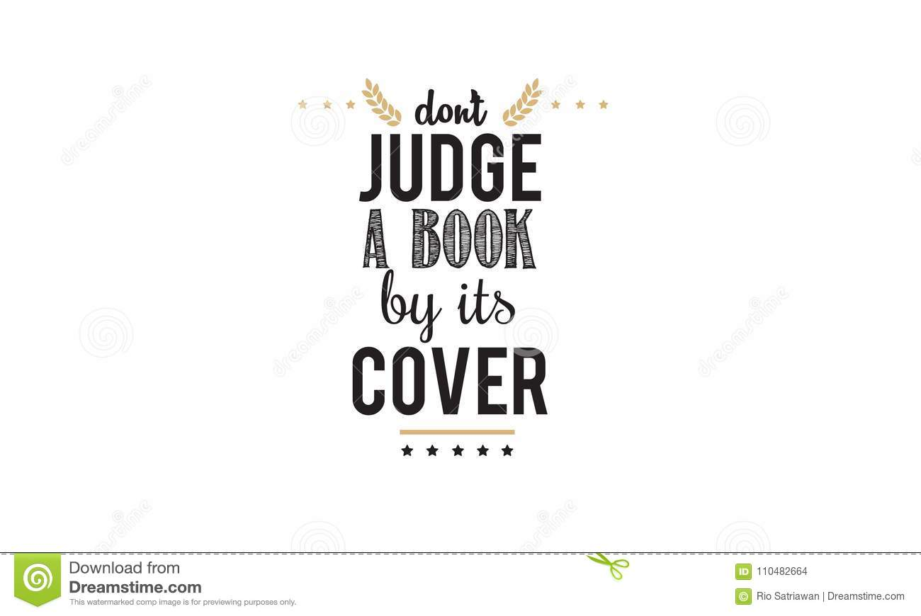 Don`t Judge Book By Its Cover Icon Illustration Stock Vector ...
