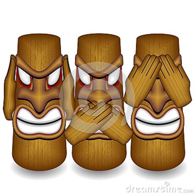 Don`t See Don`t Hear Don`t Speak Totems