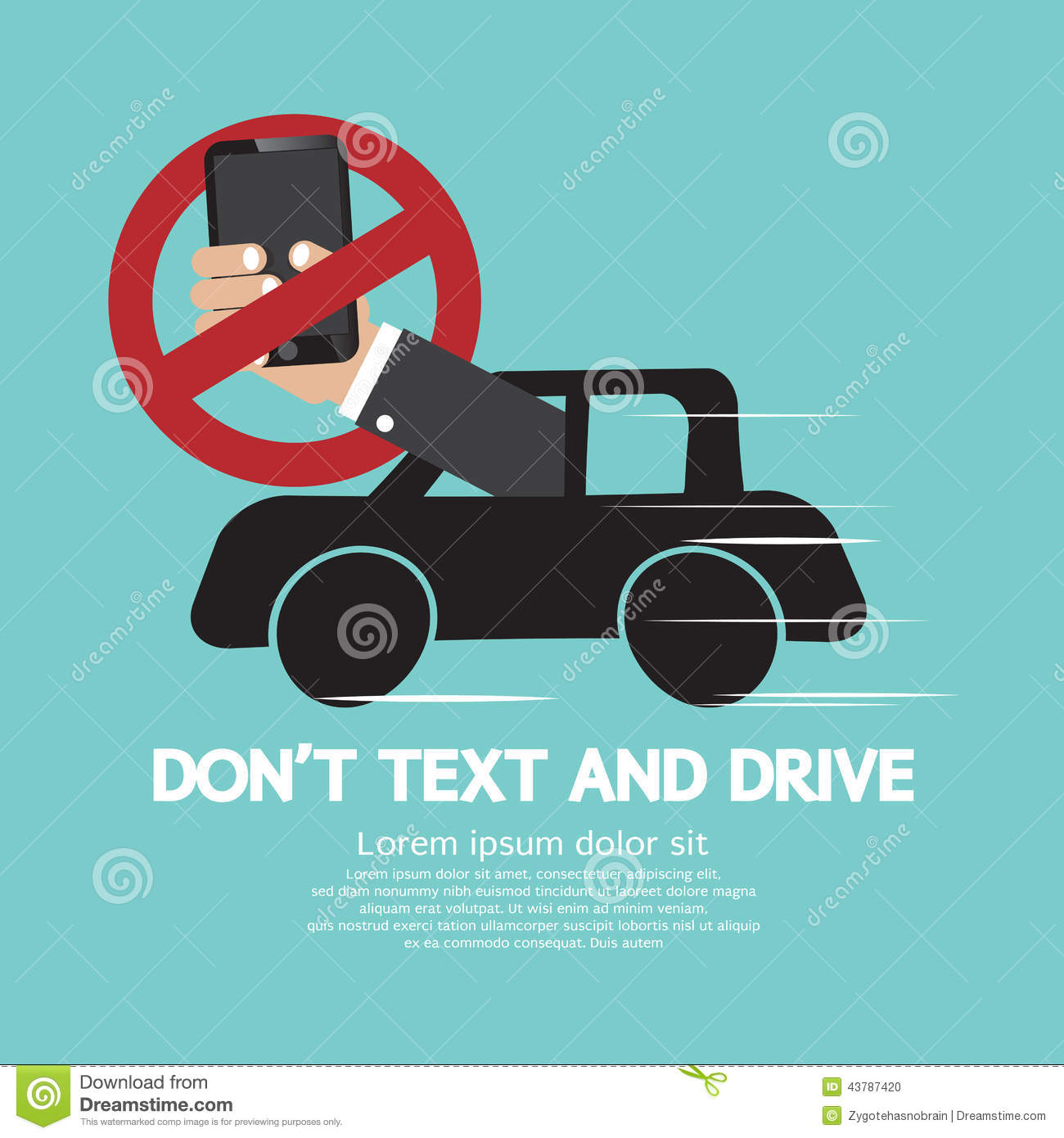 don t text and drive Free essay: while i was driving to my house the other day i received a text message instantly i grabbed it and answered at the same time i was driving for.
