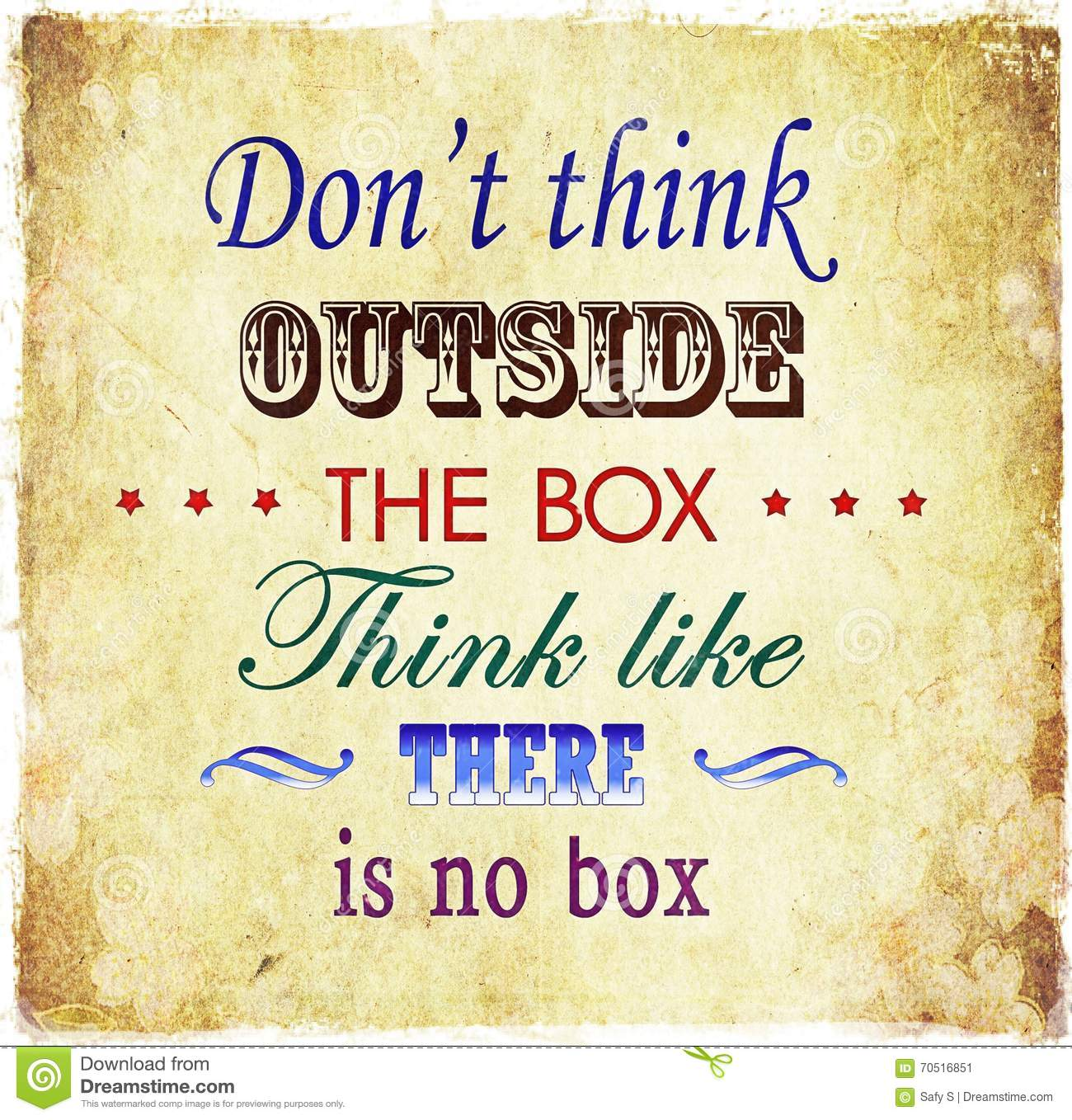 Stock Quote For T: Don't Think Outside The Box Quote Grunge Quote Background